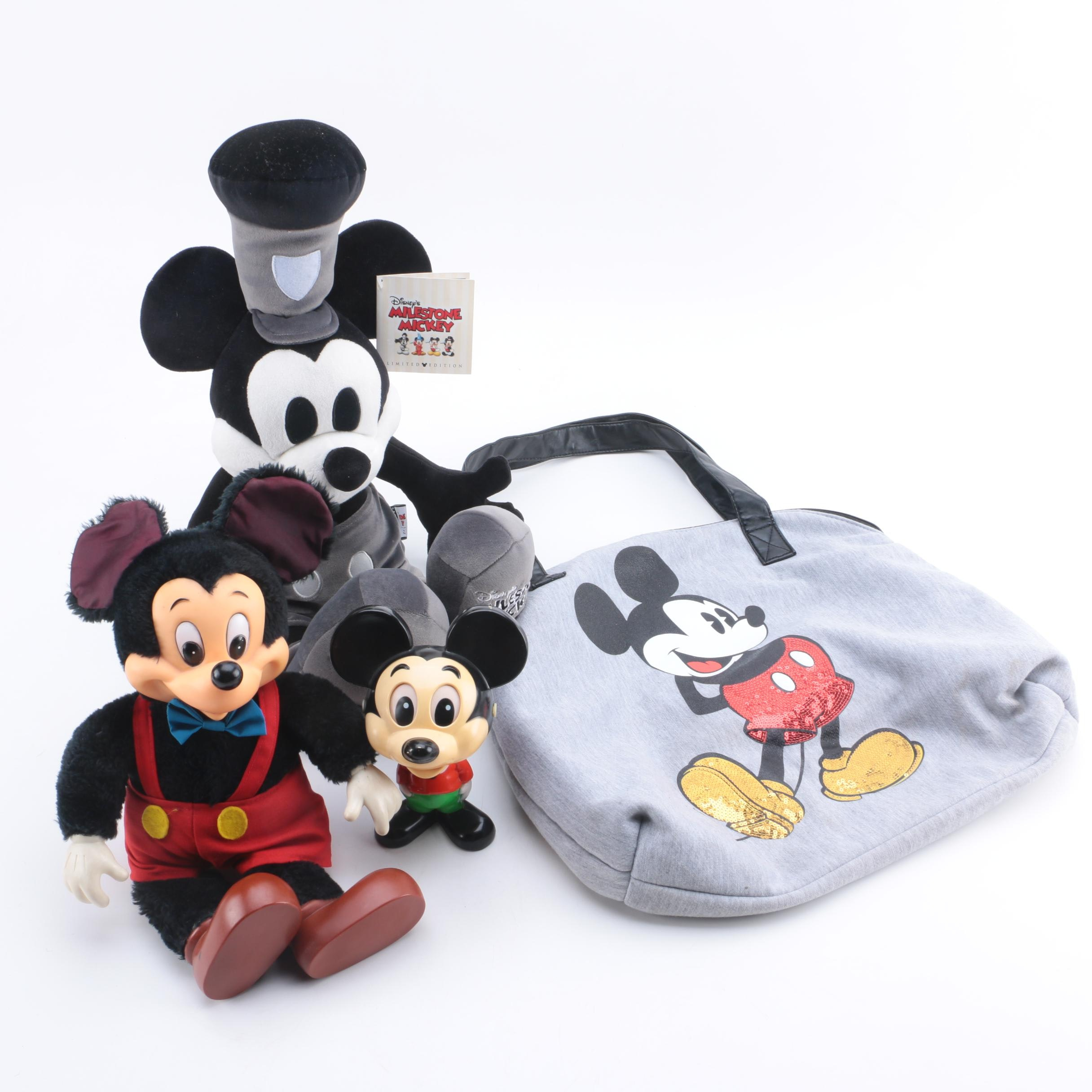 Mickey Mouse Memorabilia Including Cloth Tote Bag