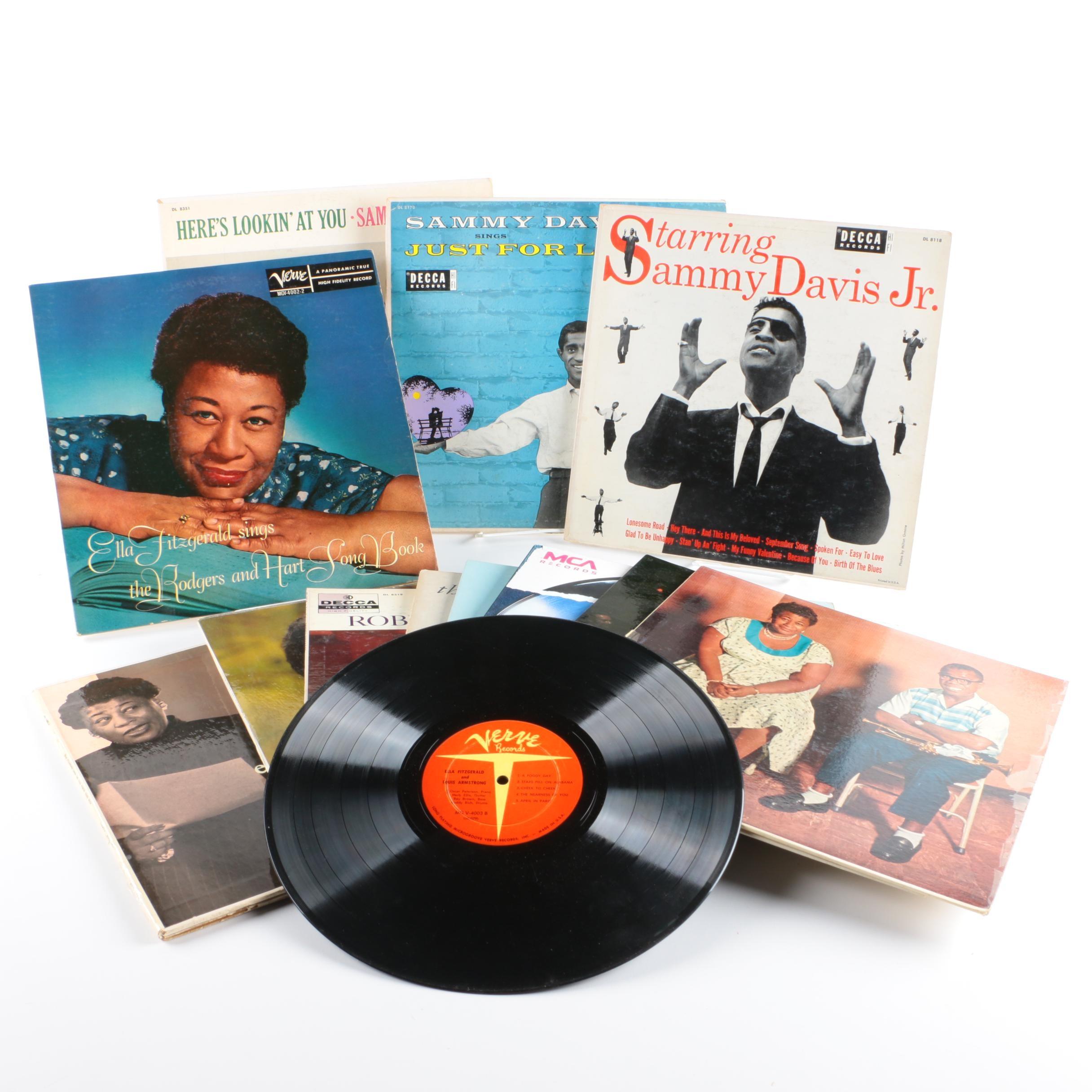 Sammy Davis, Jr., Ella Fitzgerald, Bobby Short, Sarah Vaughan and Other LPs