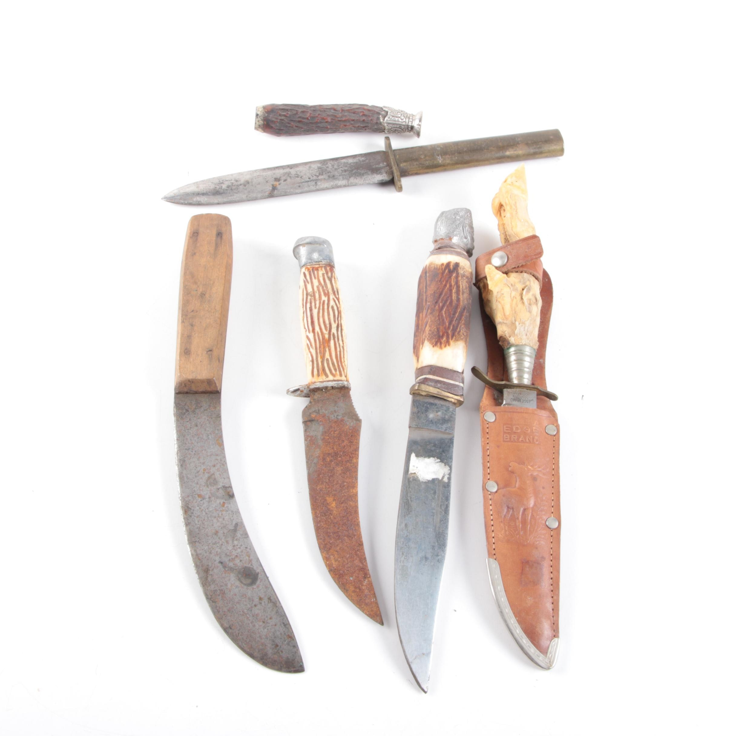 Bone and Antler Handle Knives