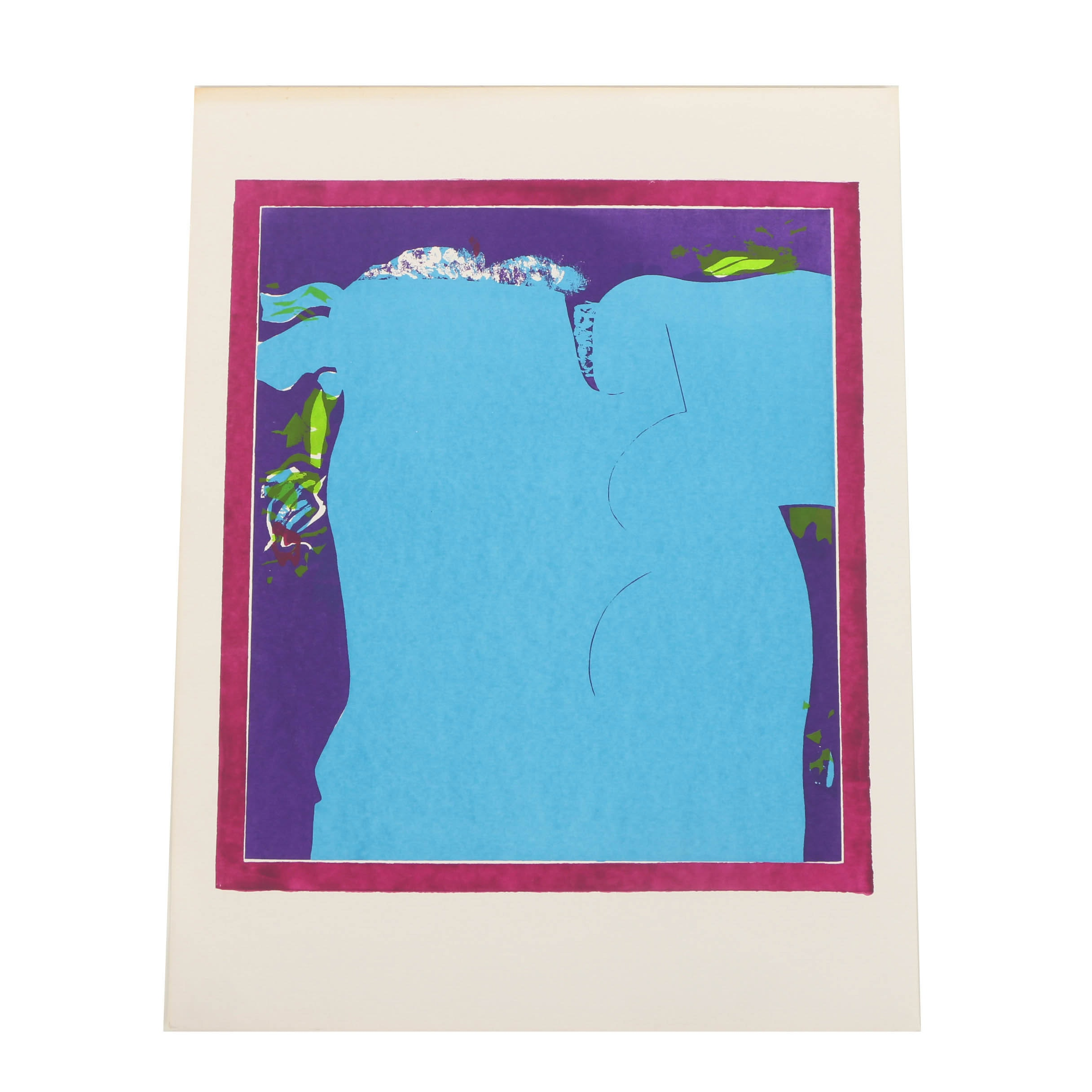 Attributed to Sylvia Halperin Serigraph Print