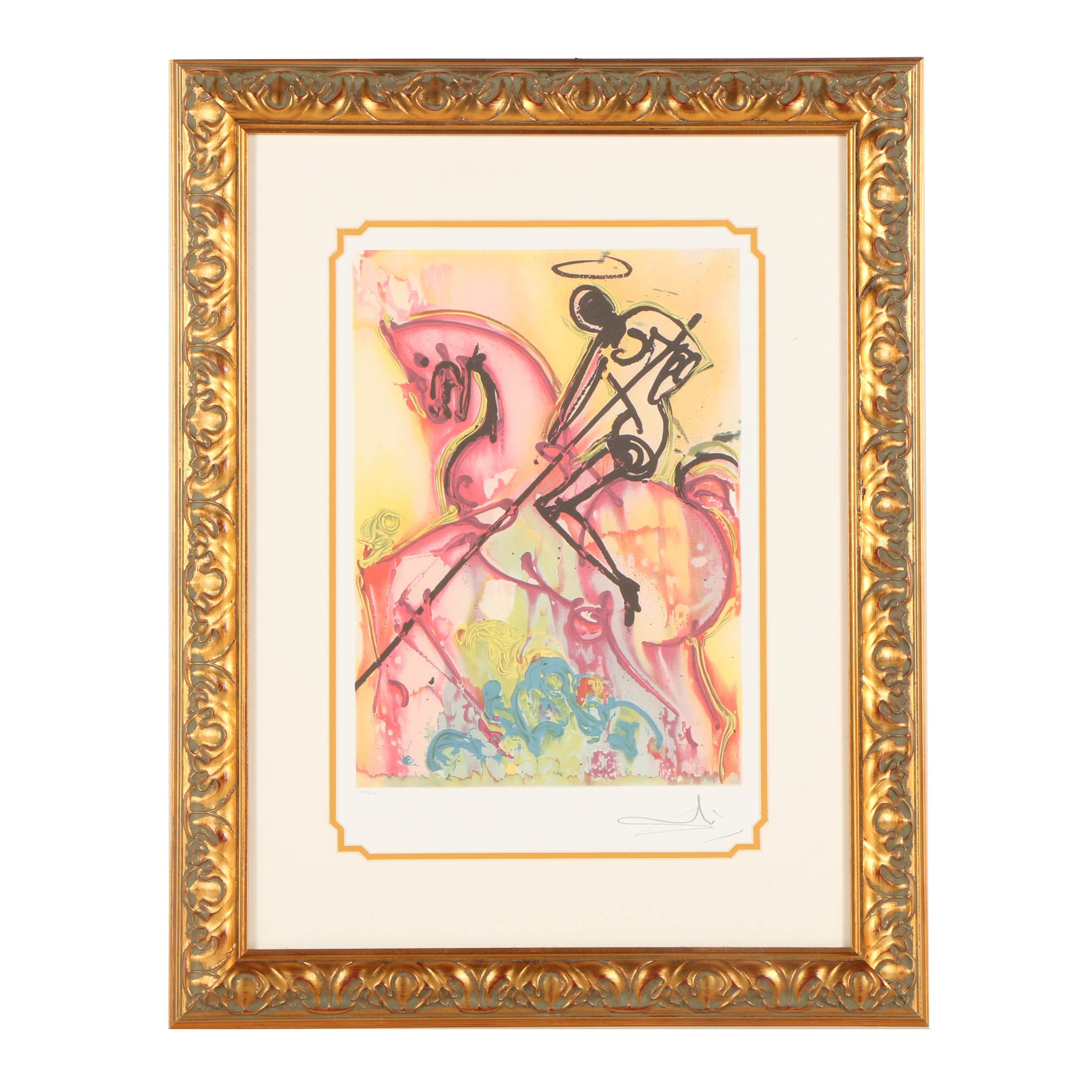 "Offset Lithograph After Salvador Dalí ""St. George and the Dragon"""