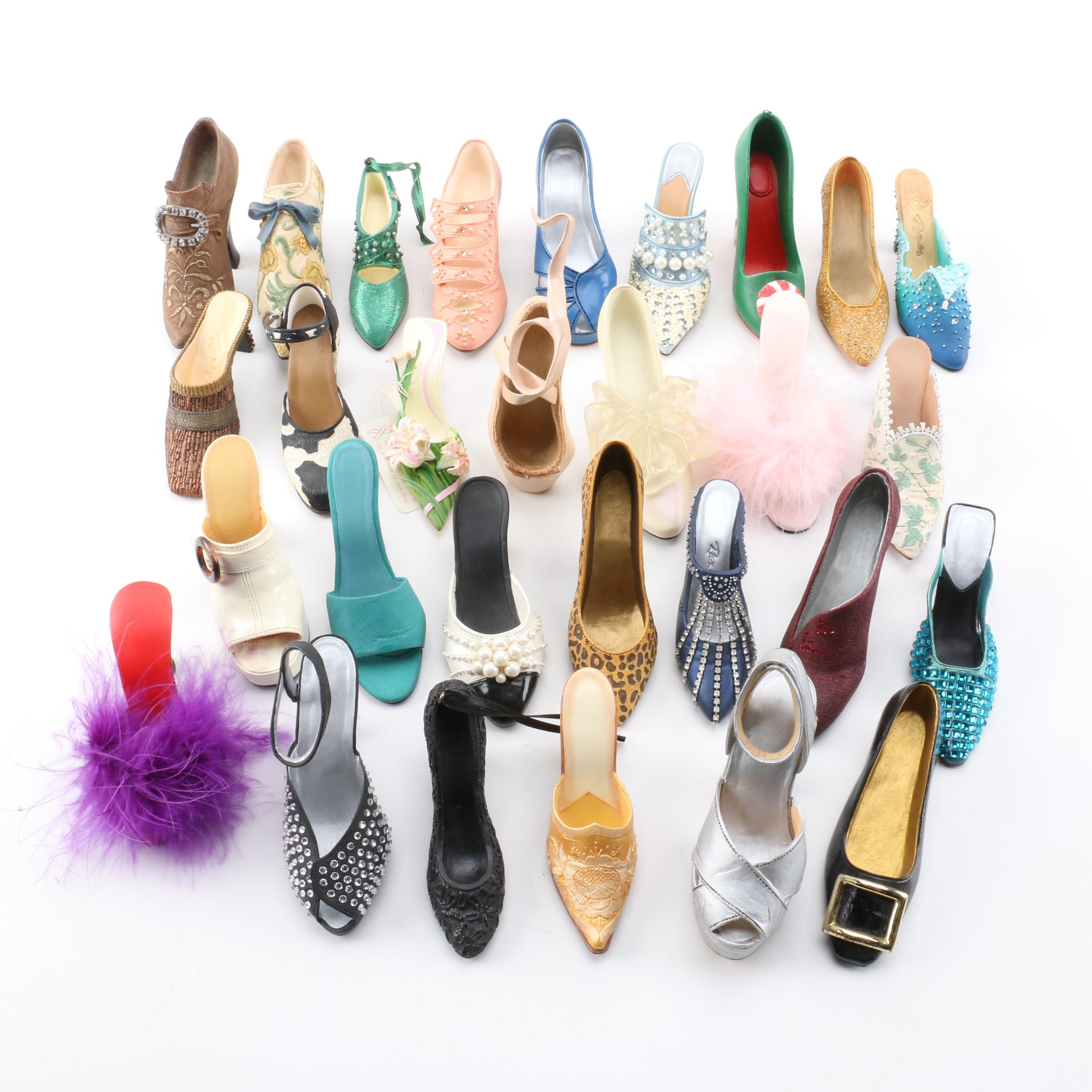 Miniature High Heeled Shoe Collection