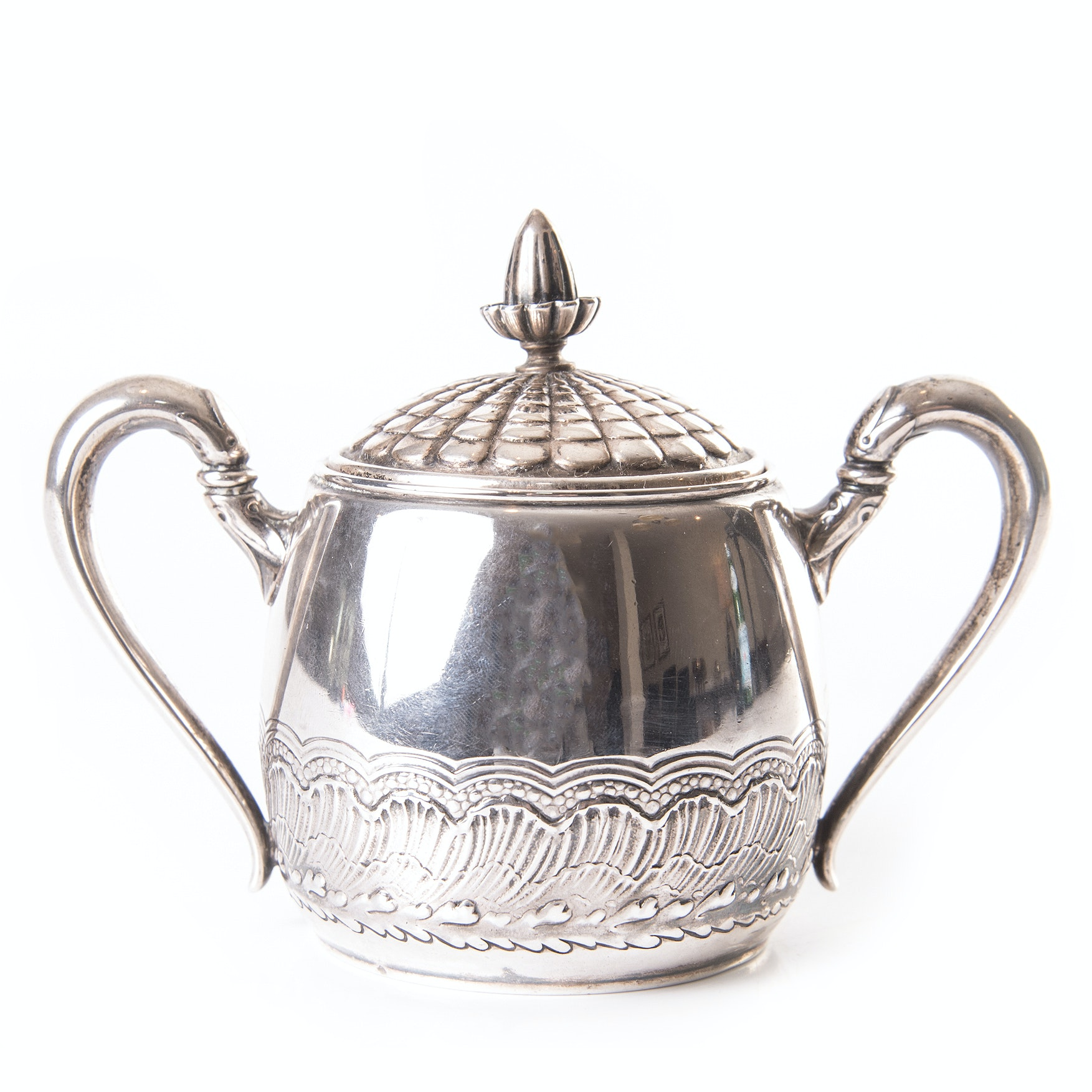 Late 19th Century Gorham Sterling Silver Covered Sugar Bowl
