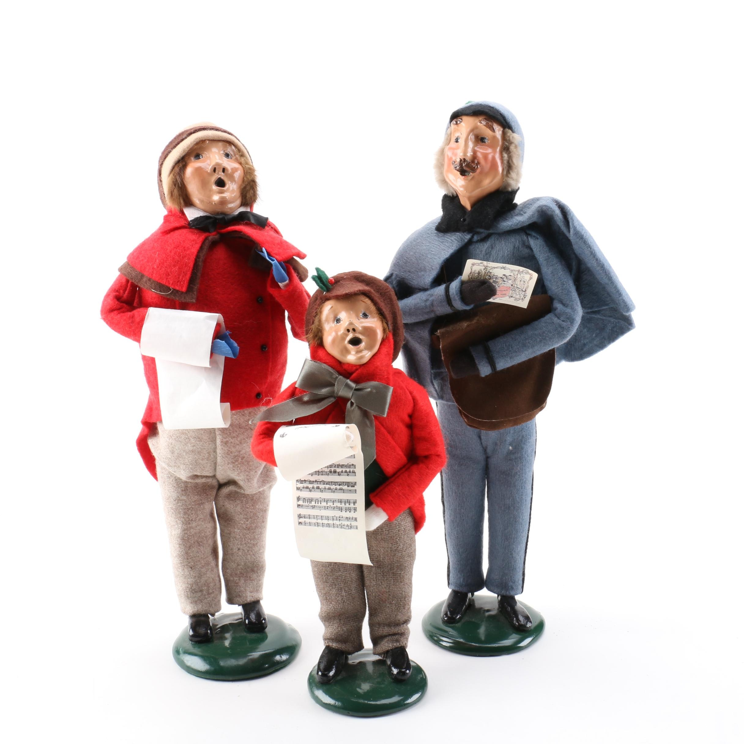 Singing Carolers Candleholders Figurines Vintage By: Byers' Choice Christmas Caroler Figurines : EBTH