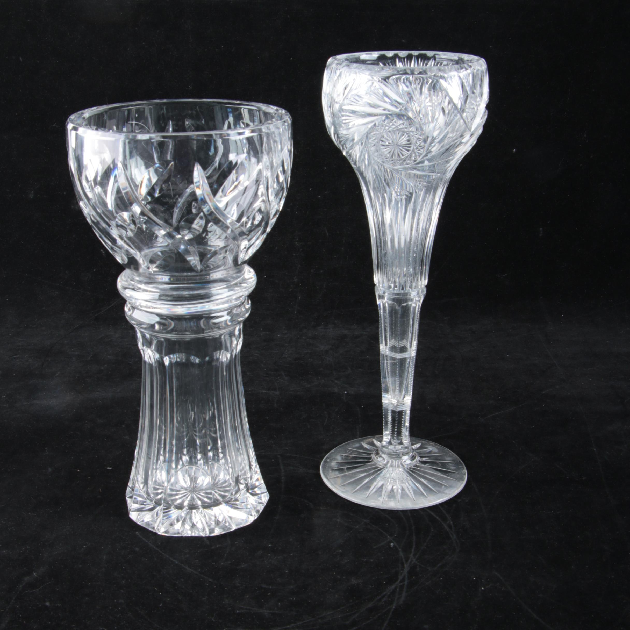 American Brilliant Period Cut Glass and Crystal Vases