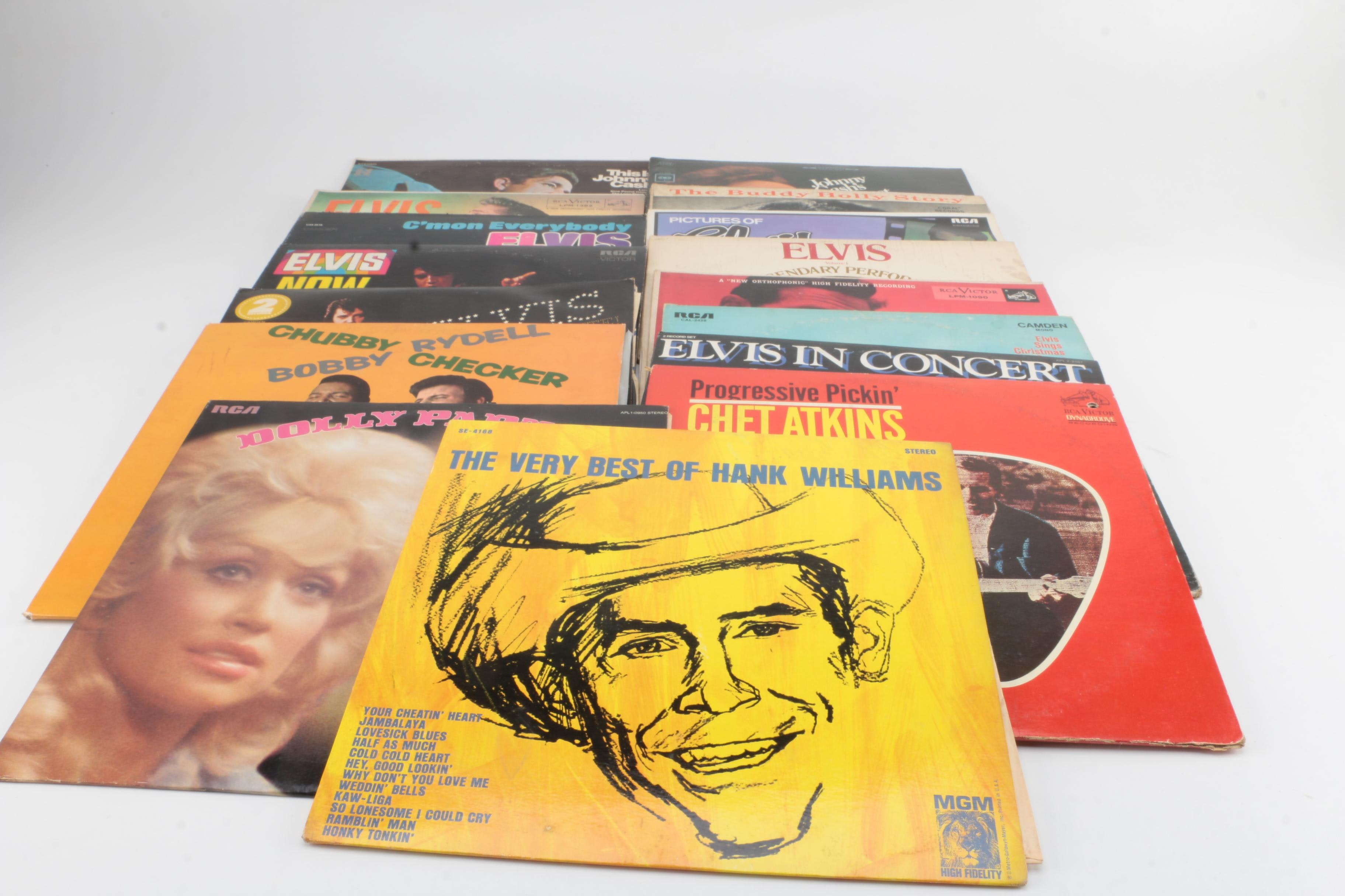 Records Featuring Elvis, Buddy Holly, Johnny Cash and More