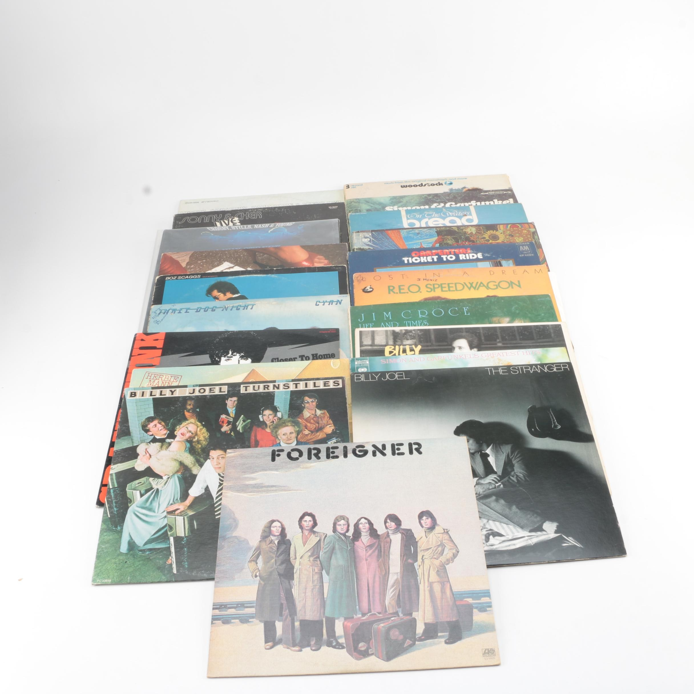 Foreigner, Billy Joel, Eric Clapton, Jim Croce, Simon and Garfunkel, and Other Records