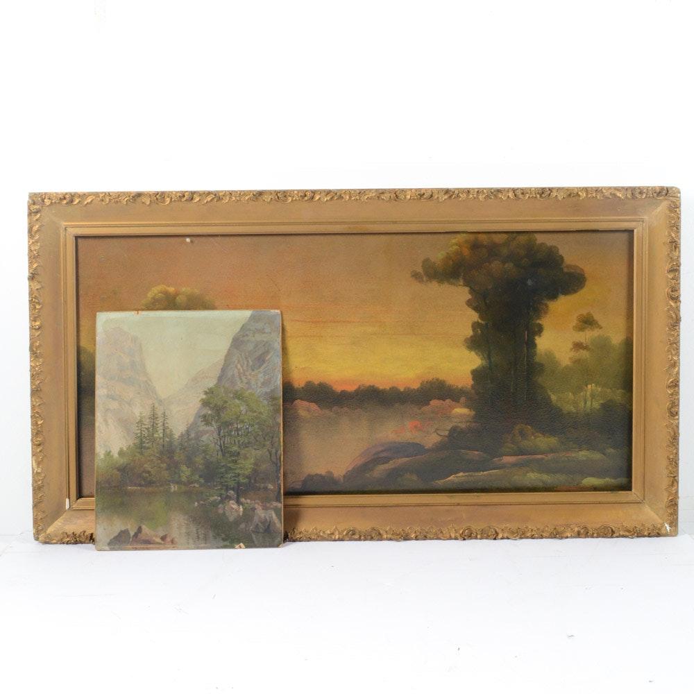 Original Antique Oil Painting Landscapes