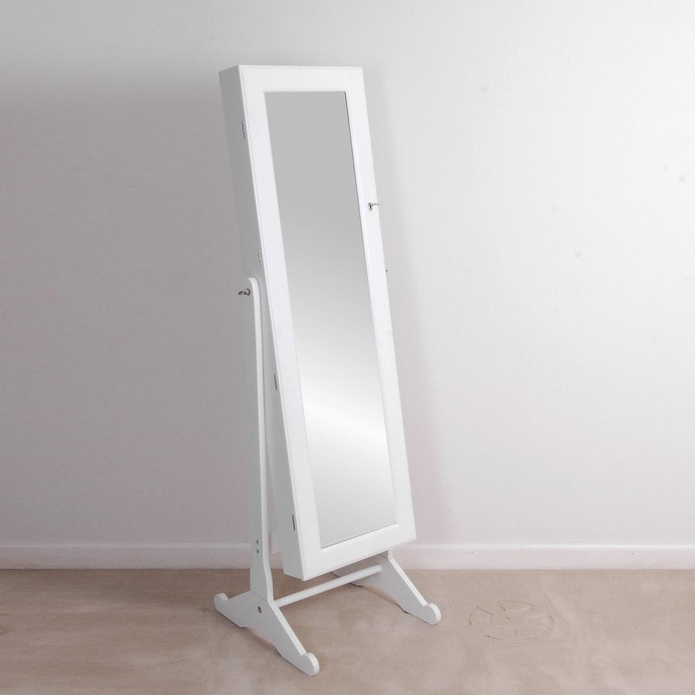 Freestanding Mirrored Jewelry Cabinet by Lori Greiner