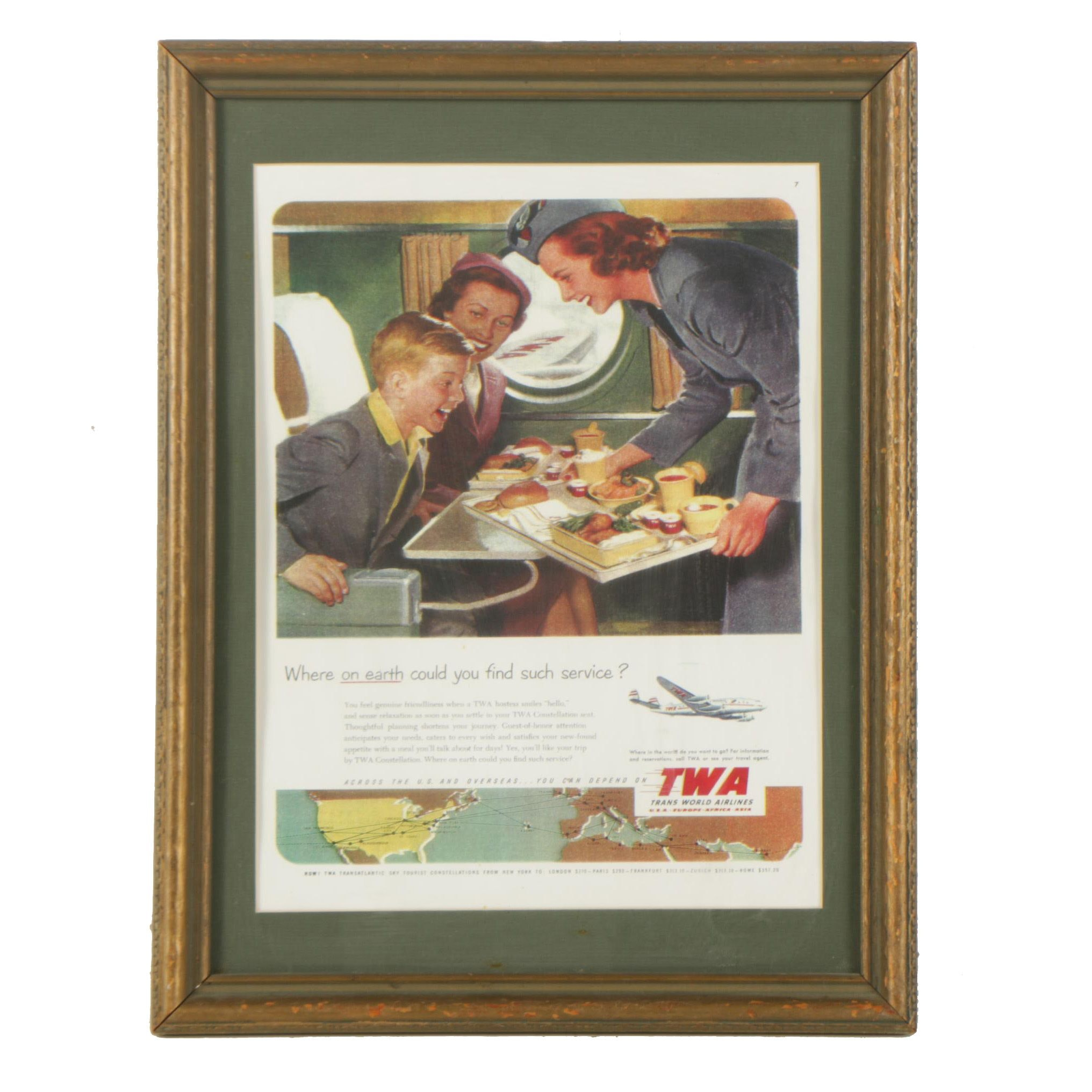Trans World Airlines Reproduction Advertisement