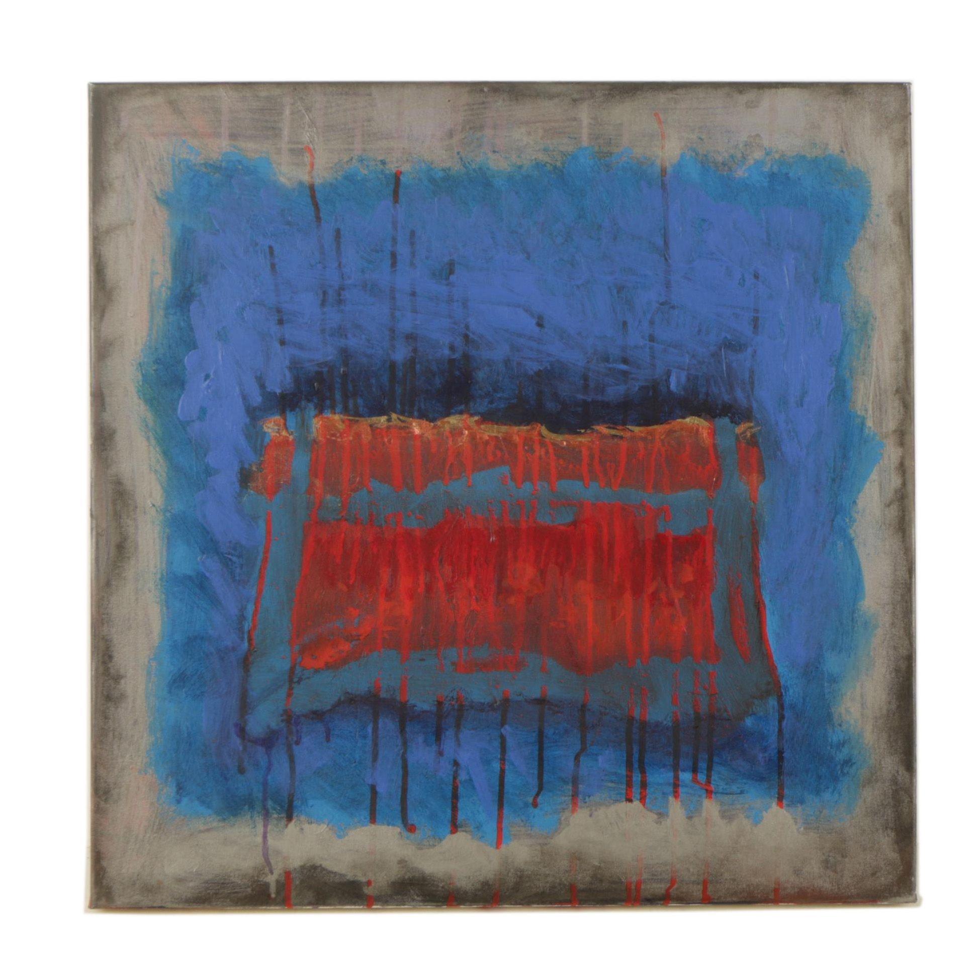 "1996 Acrylic Painting ""Duality"""