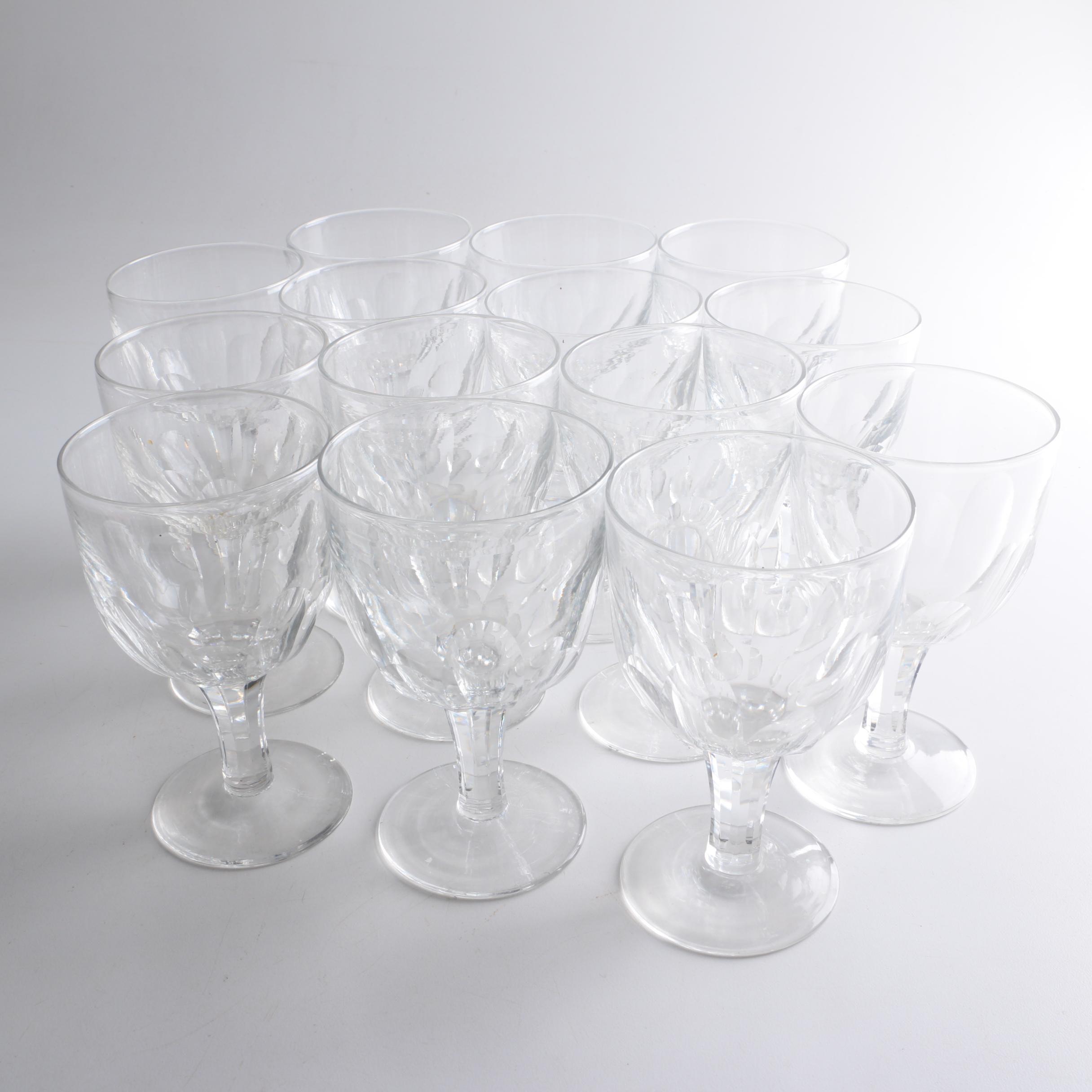 Vintage Edinburgh Crystal Wine Glasses
