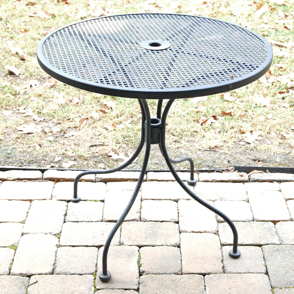 Outdoor Wrought Iron Patio Table
