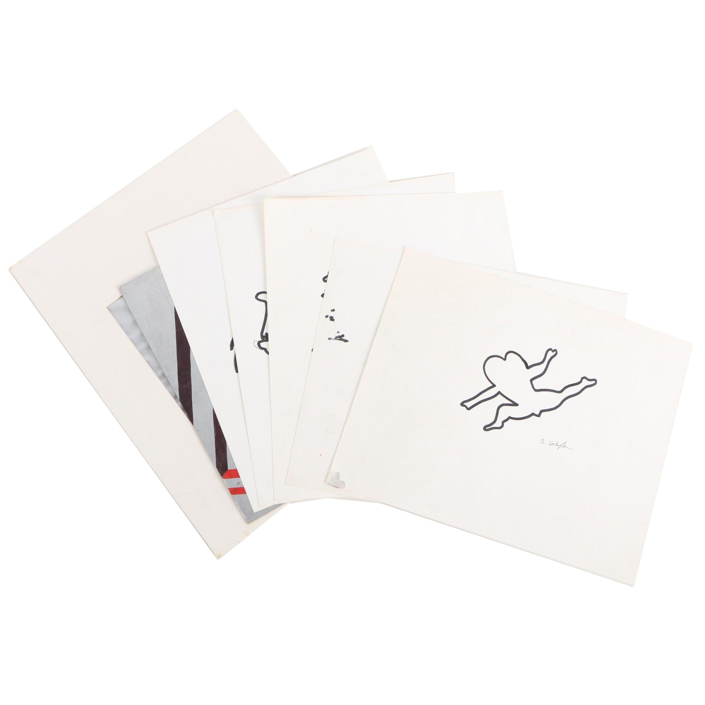 Bill Schiffer Oil Paint Marker Drawings