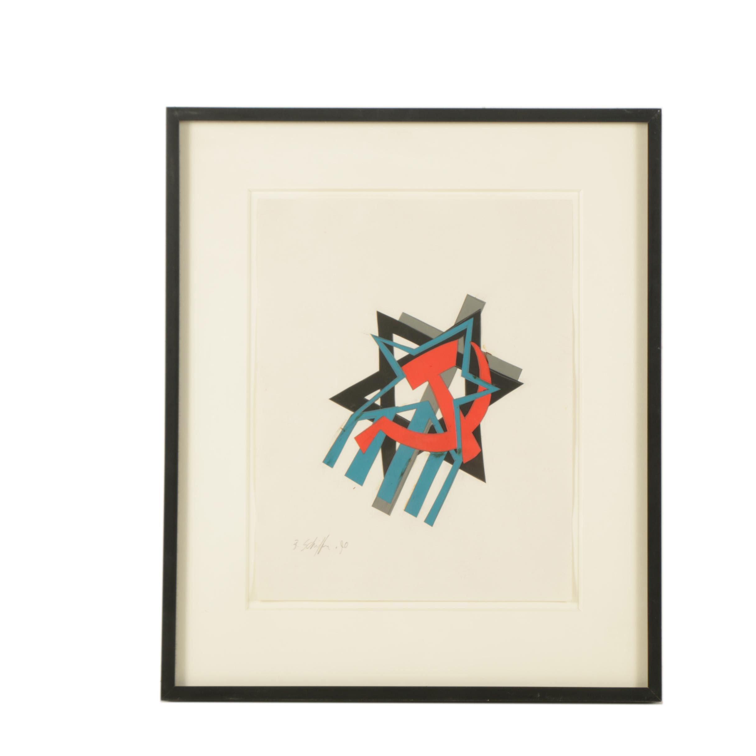 1990 Bill Schiffer Paper Collage
