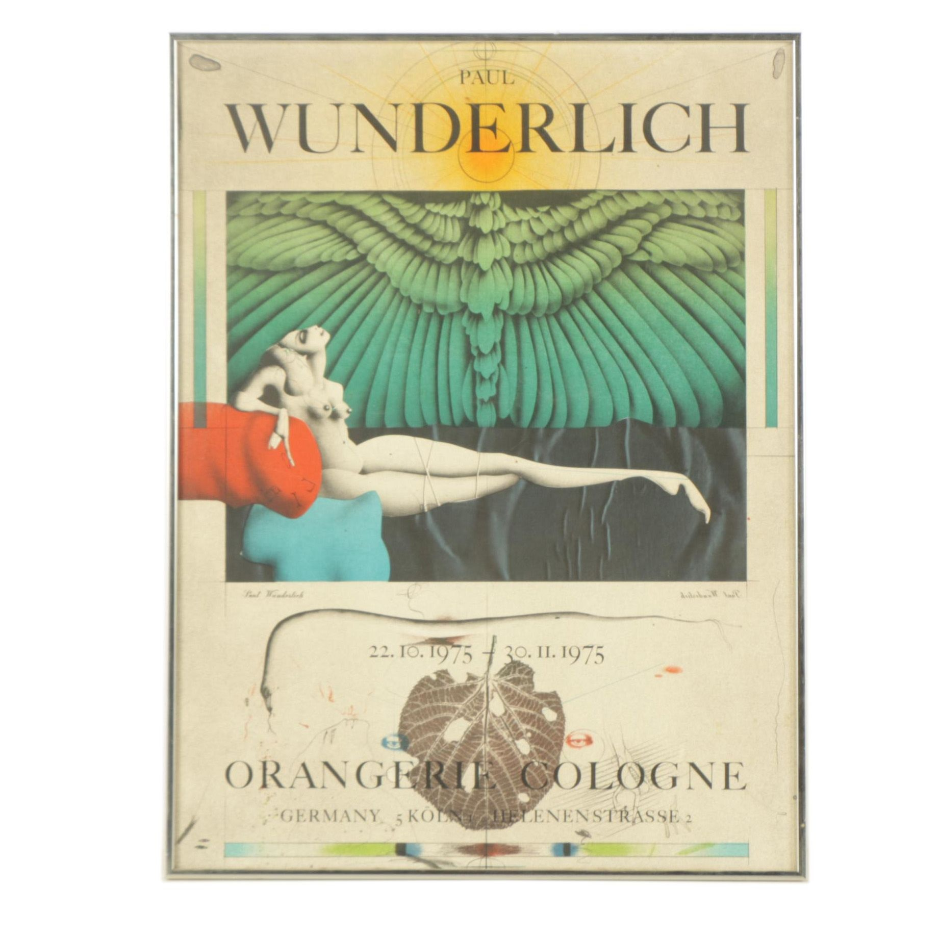 Color Lithograph Poster After Paul Wunderlich
