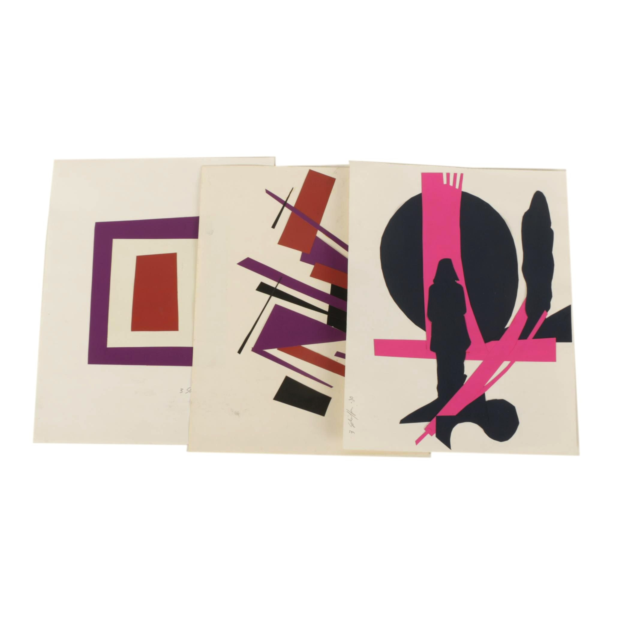 Bill Schiffer Cut-Paper Collages
