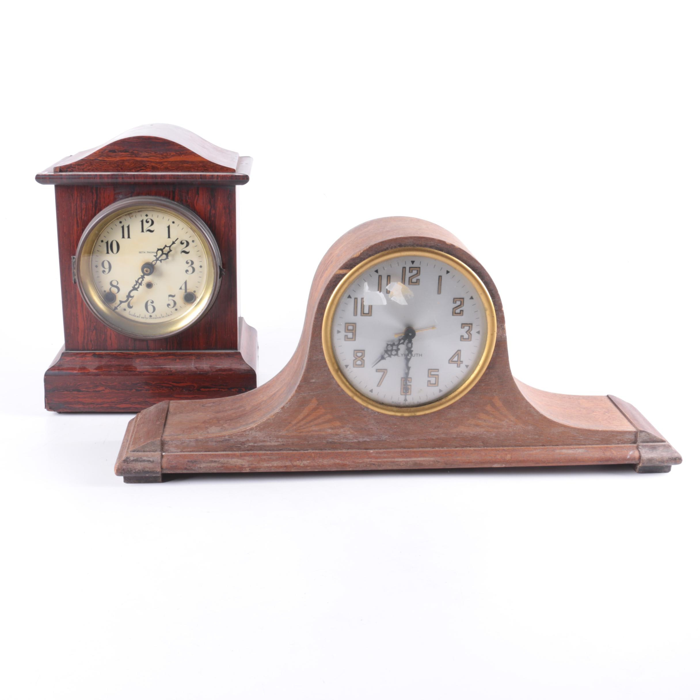 Seth Thomas Wooden Mantel Clocks