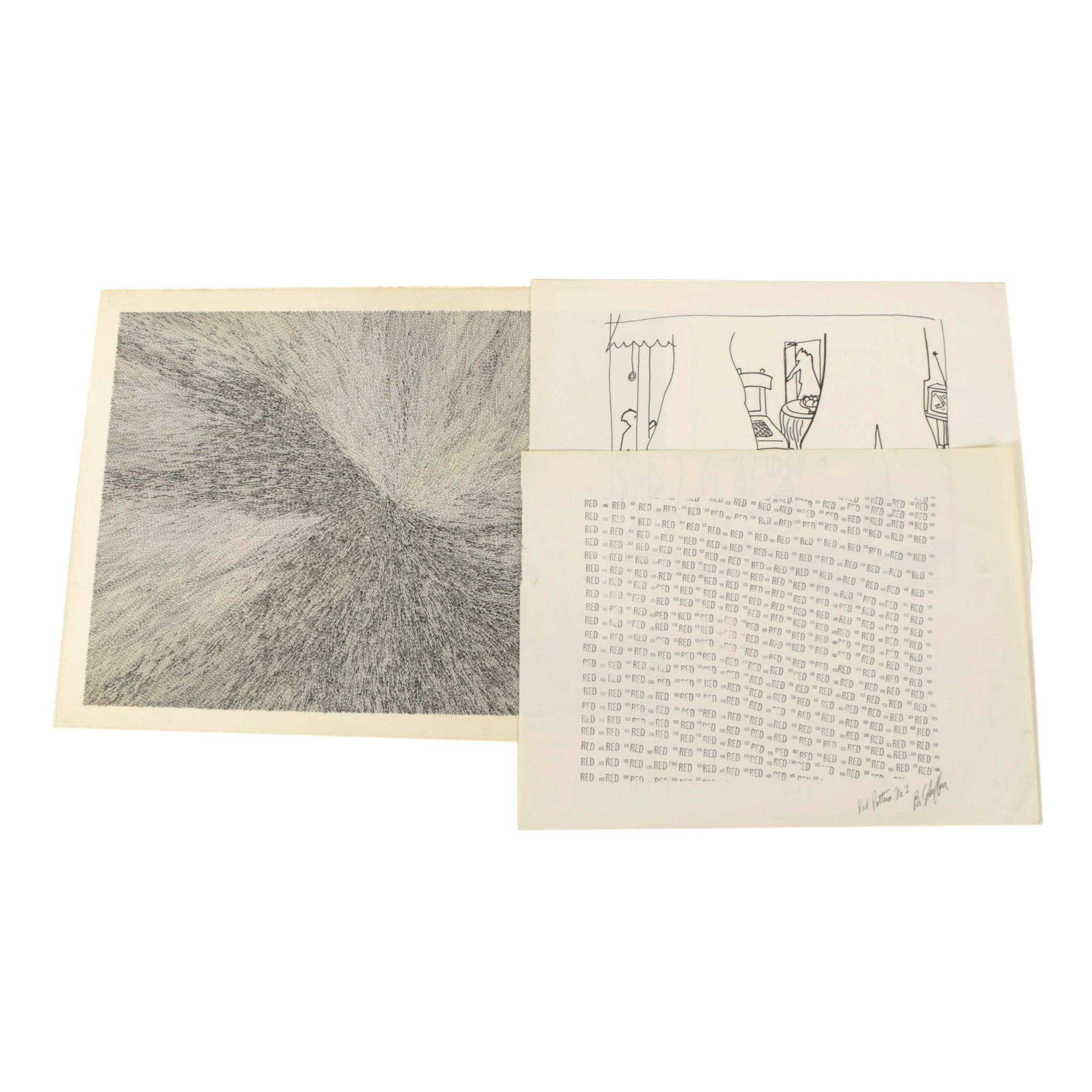 Bill Schiffer 1980's Ink Artworks
