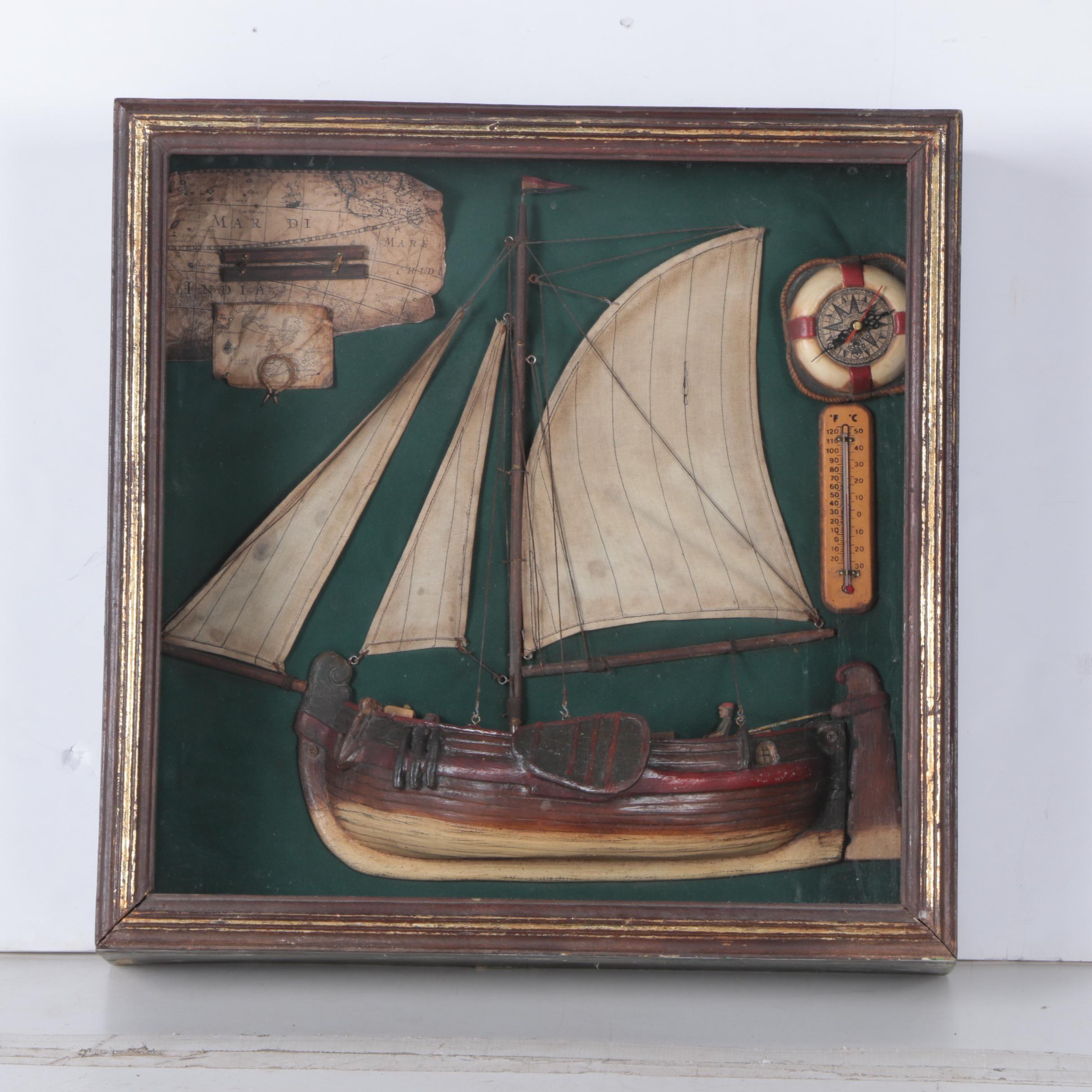 Sailboat Display Shadowbox