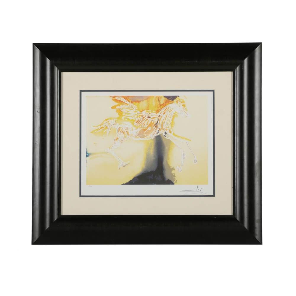 "Offset Lithograph After Salvador Dalí ""Pegasus"""