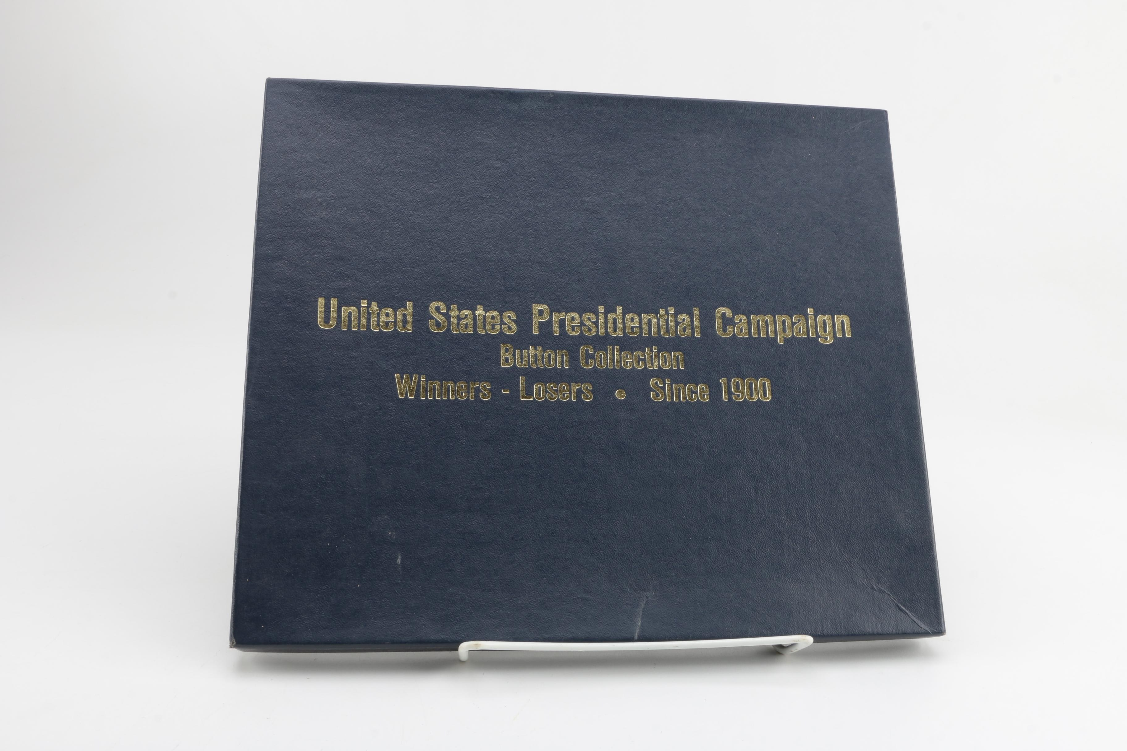 United States Presidential Campaign Button Collection with Booklet