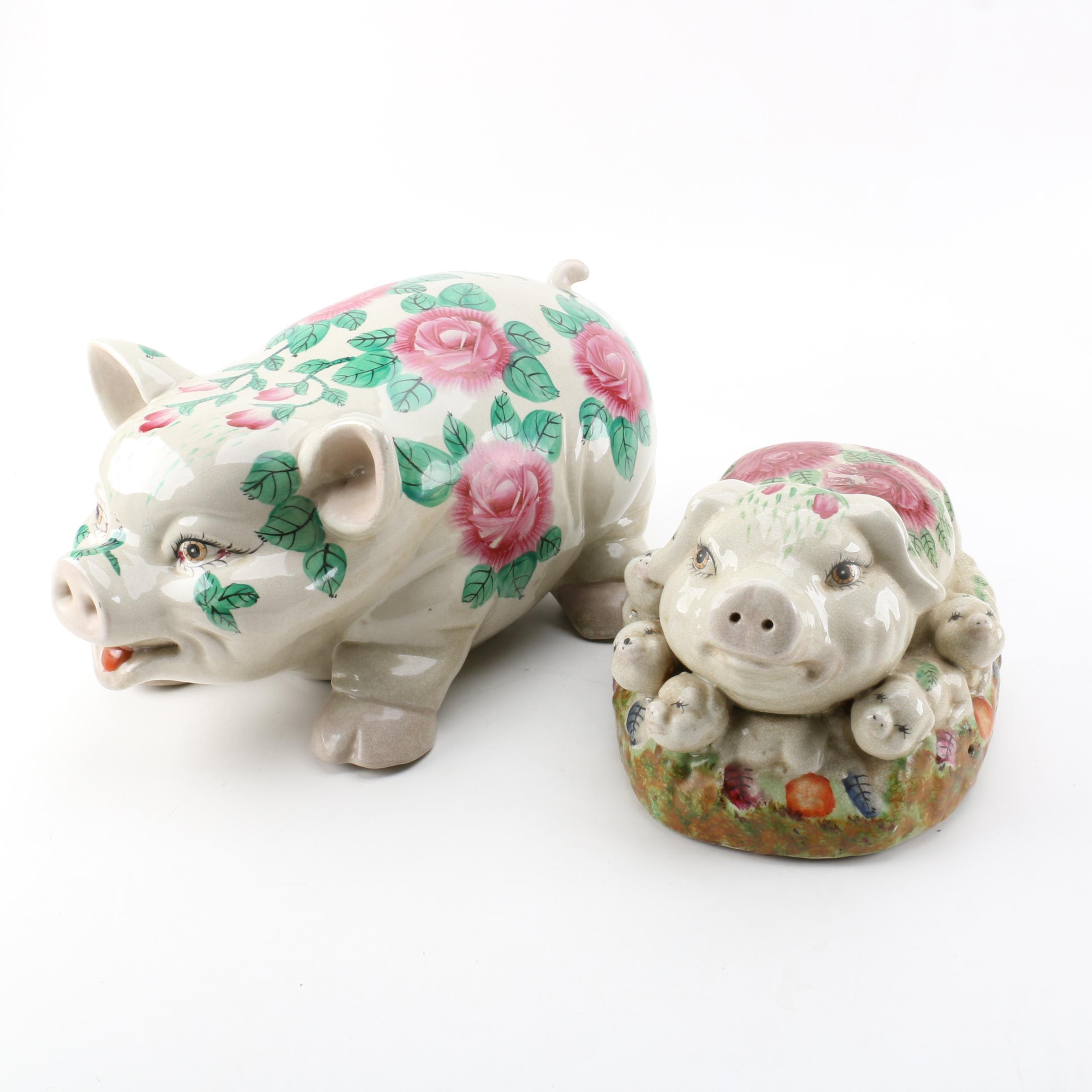 Ceramic Pig Figurines