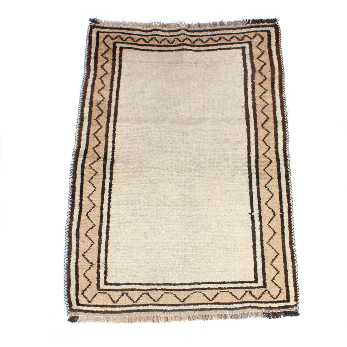 3' x 4' Semi-Antique Hand-Knotted Persian Gabbeh Rug