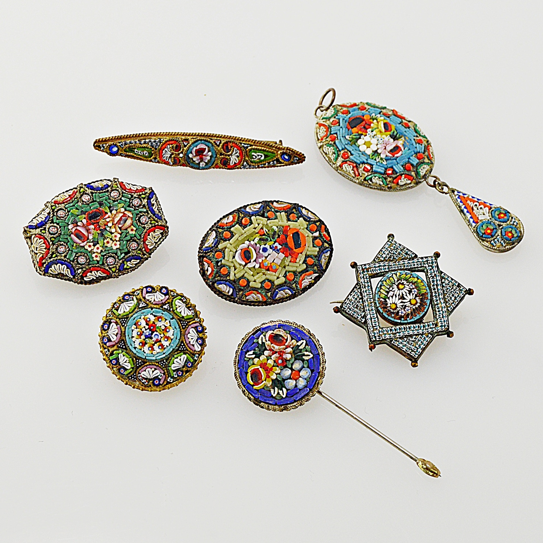 Vintage Italian Micro Mosaic Jewelry