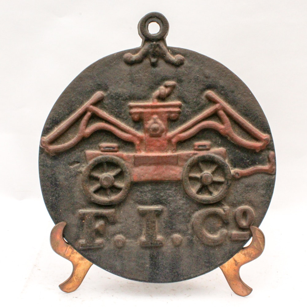Reproduction Cast Iron Fire Insurance Mark