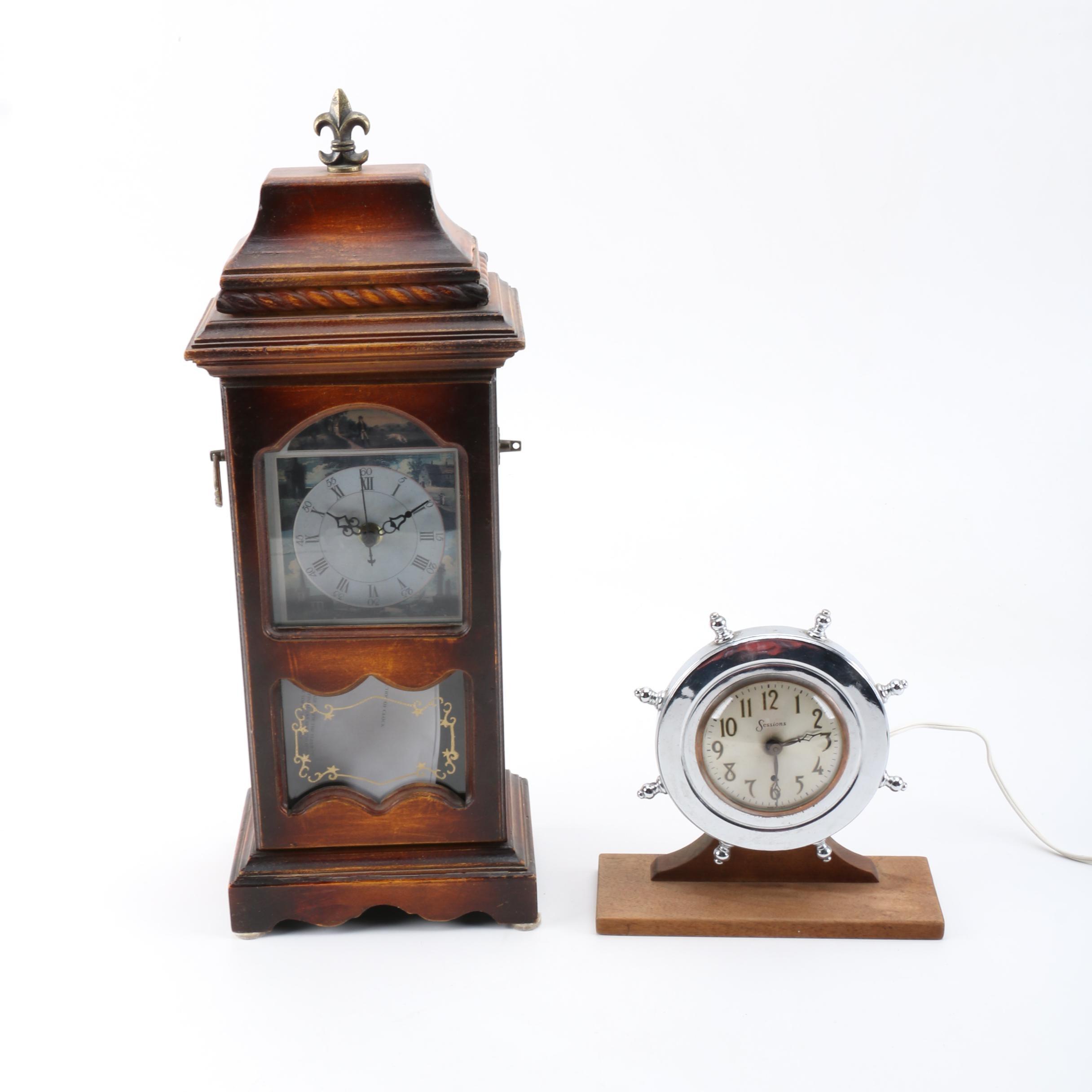 Gothic and Nautical Style Mantel Clocks