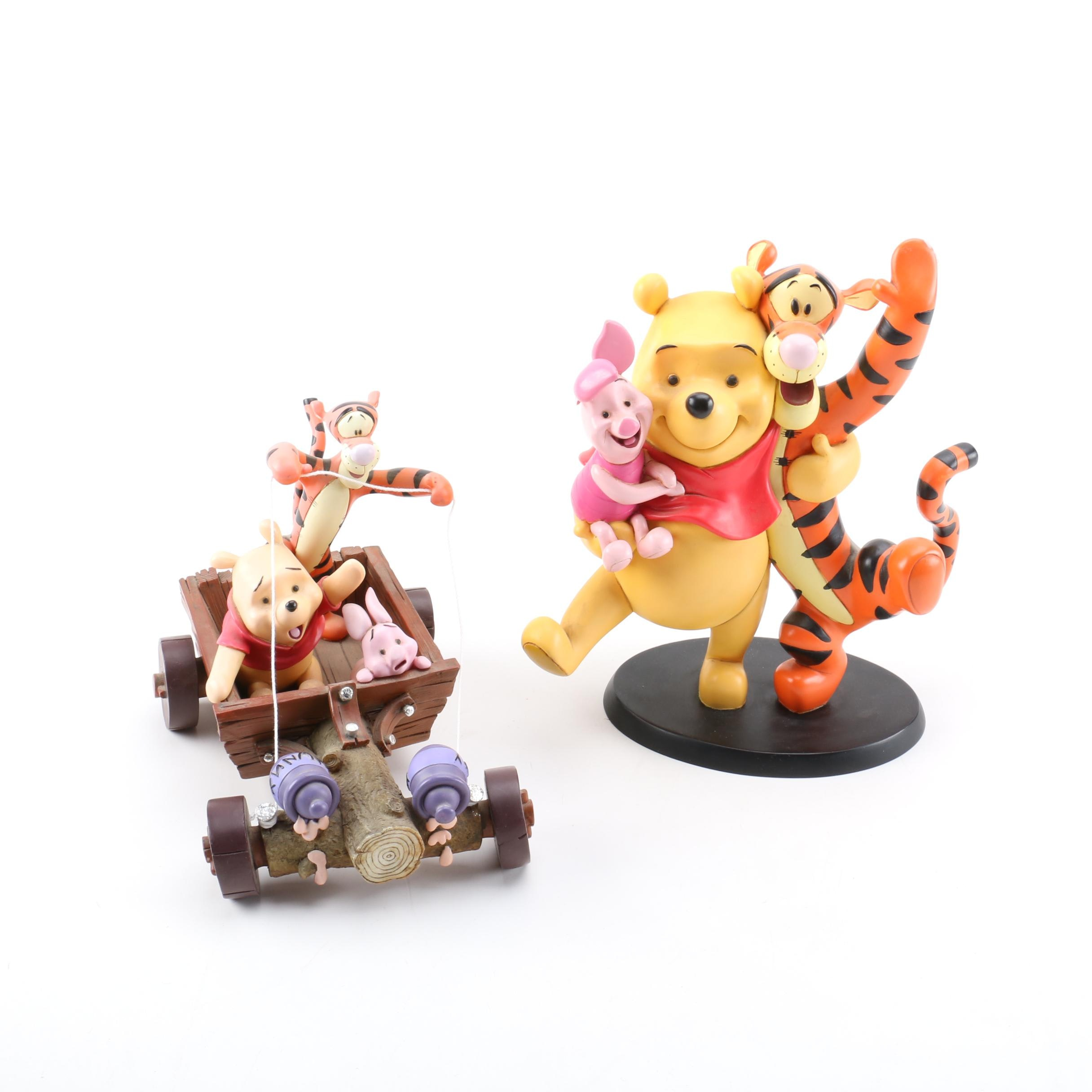 "Two ""Winnie The Pooh"" Figurines by Disney"