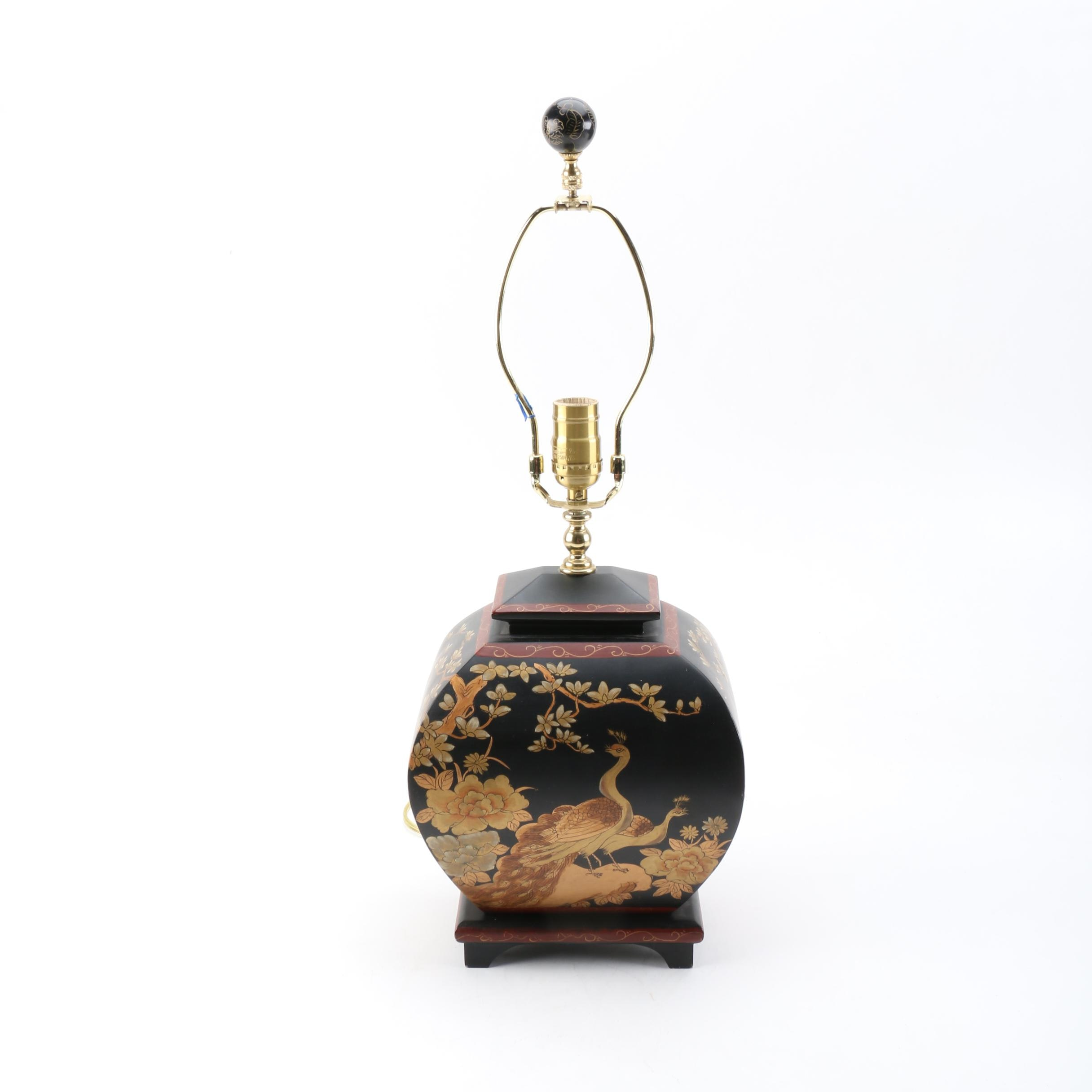 Chinoiserie Ceramic Urn Table Lamp