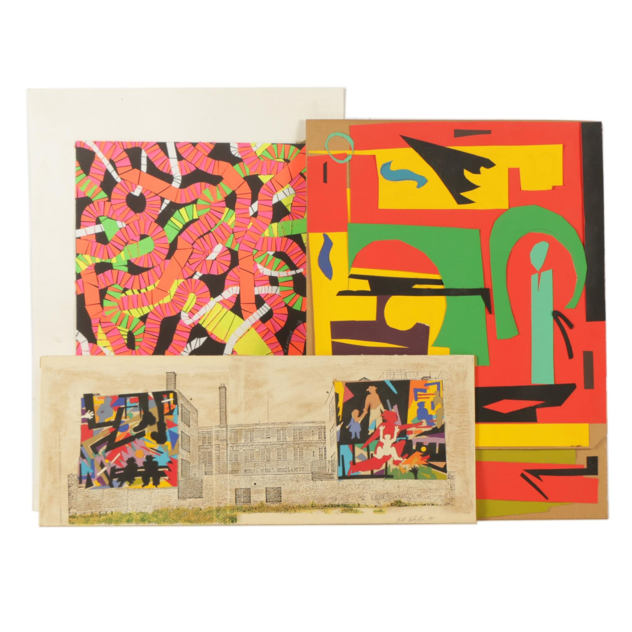 Bill Schiffer Abstract Paper Collages