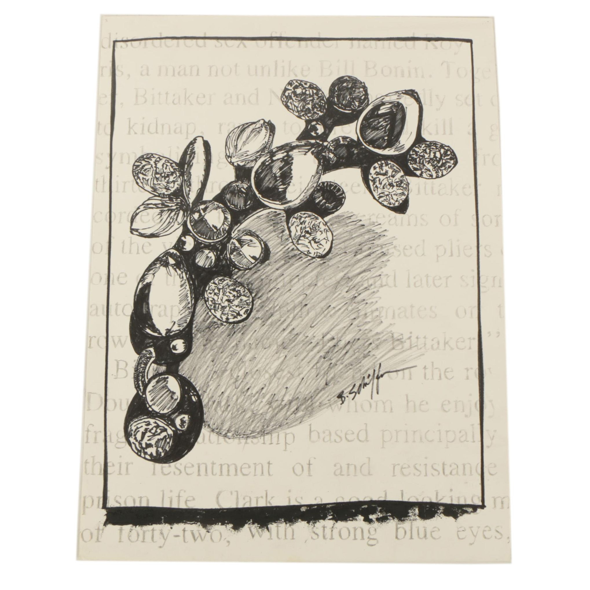Bill Schiffer Oil Marker Drawing