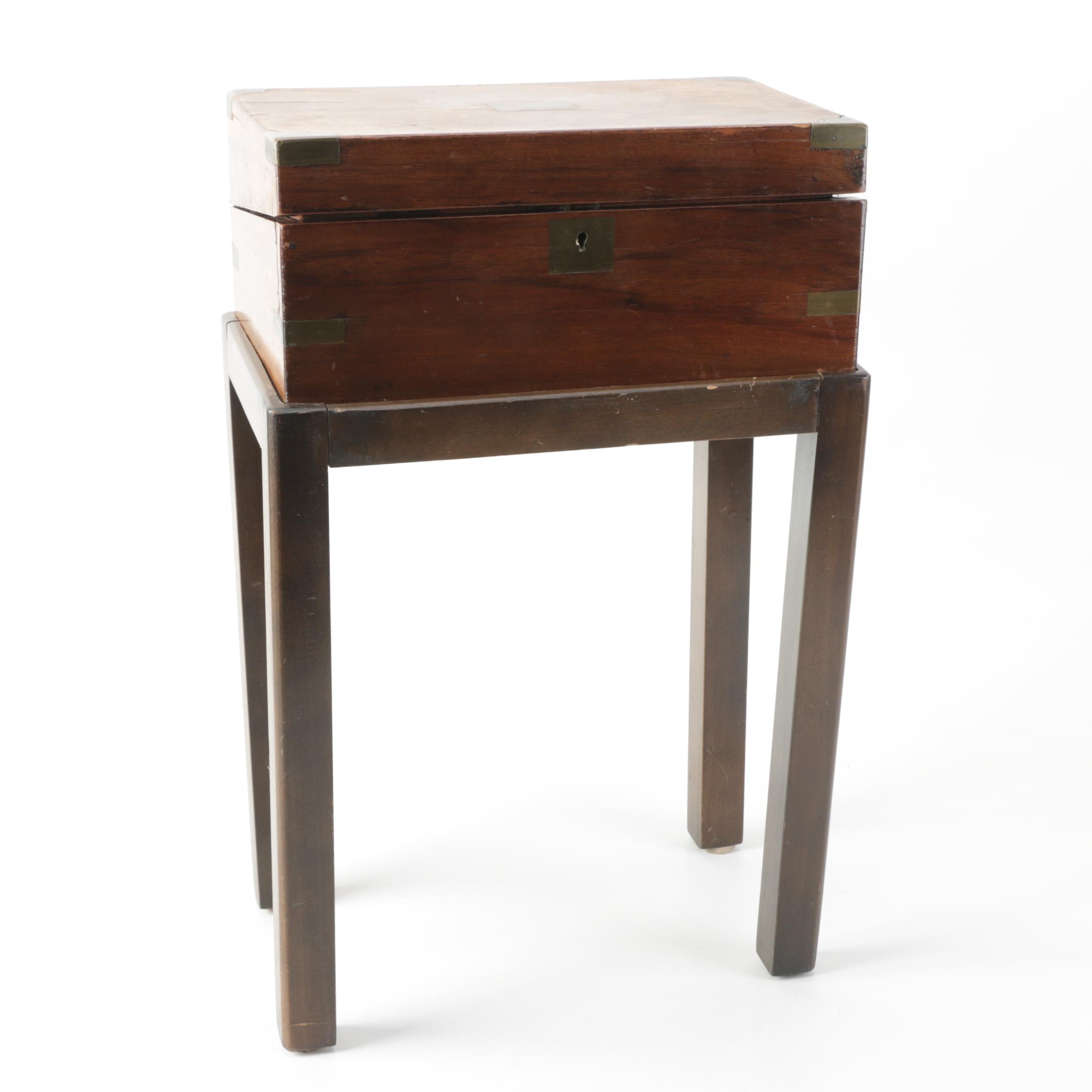 Antique Writing Lap Desk on Stand