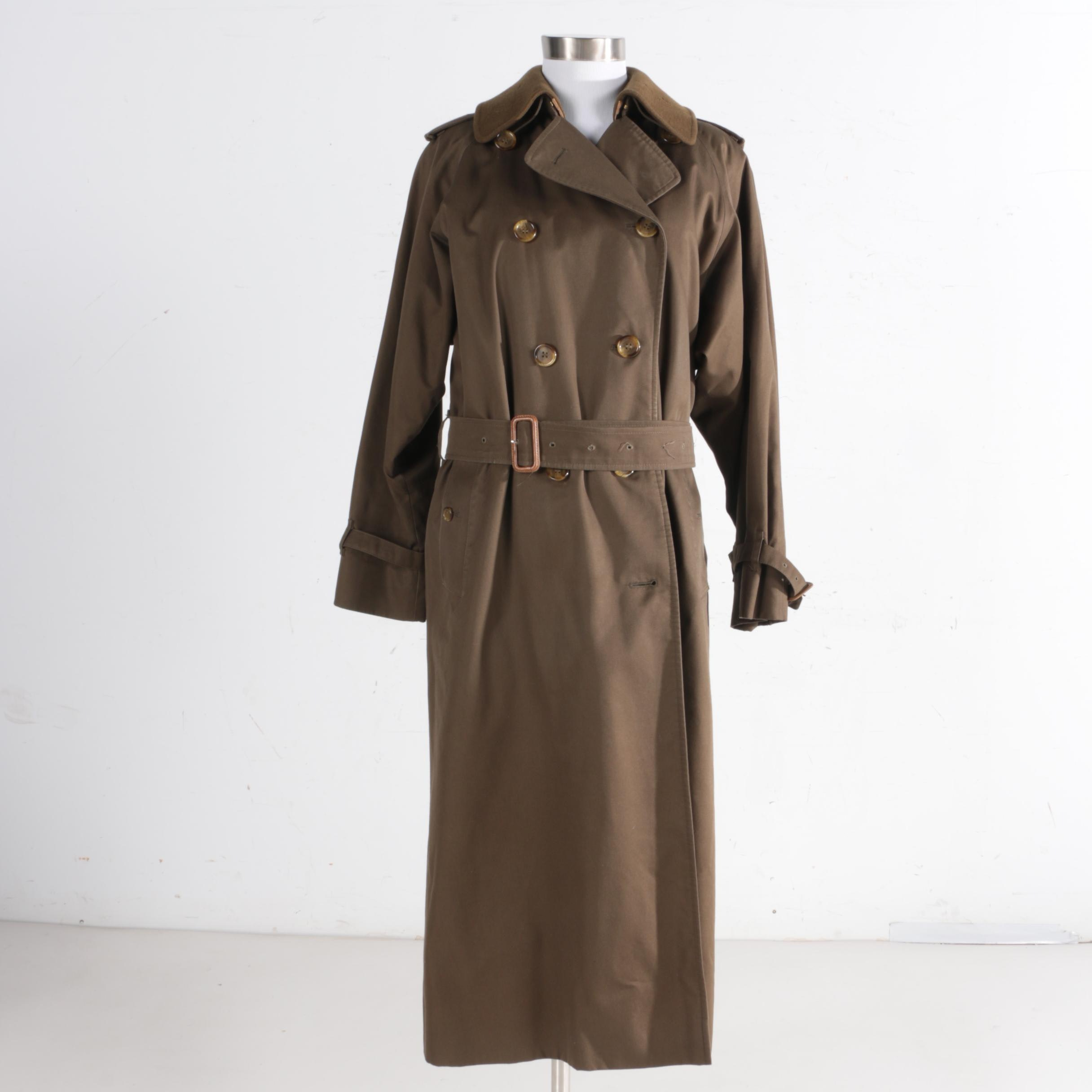 Women's Vintage Burberrys Double-Breasted Trench Coat
