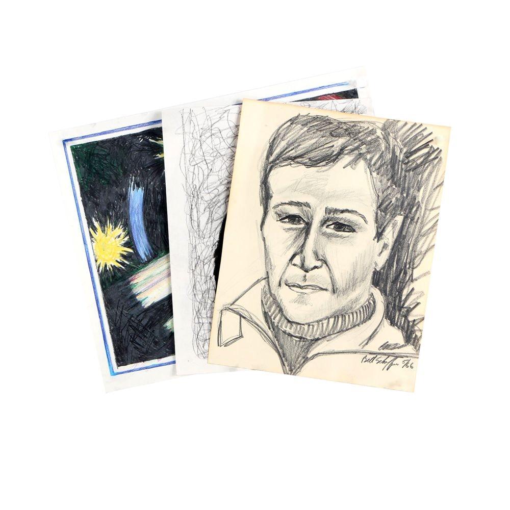 Bill Schiffer Drawings on Paper