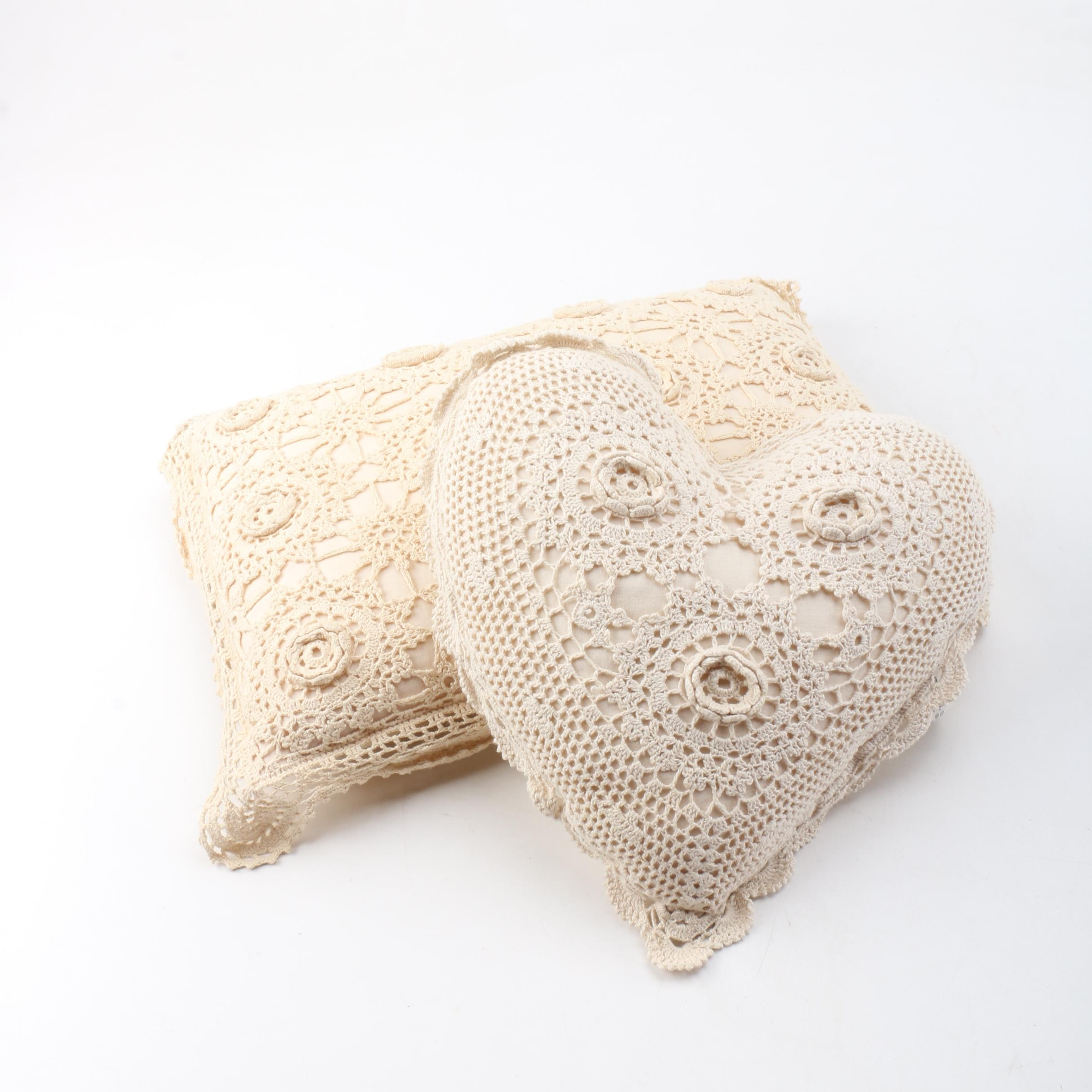 Crochet Covered Accent Pillows