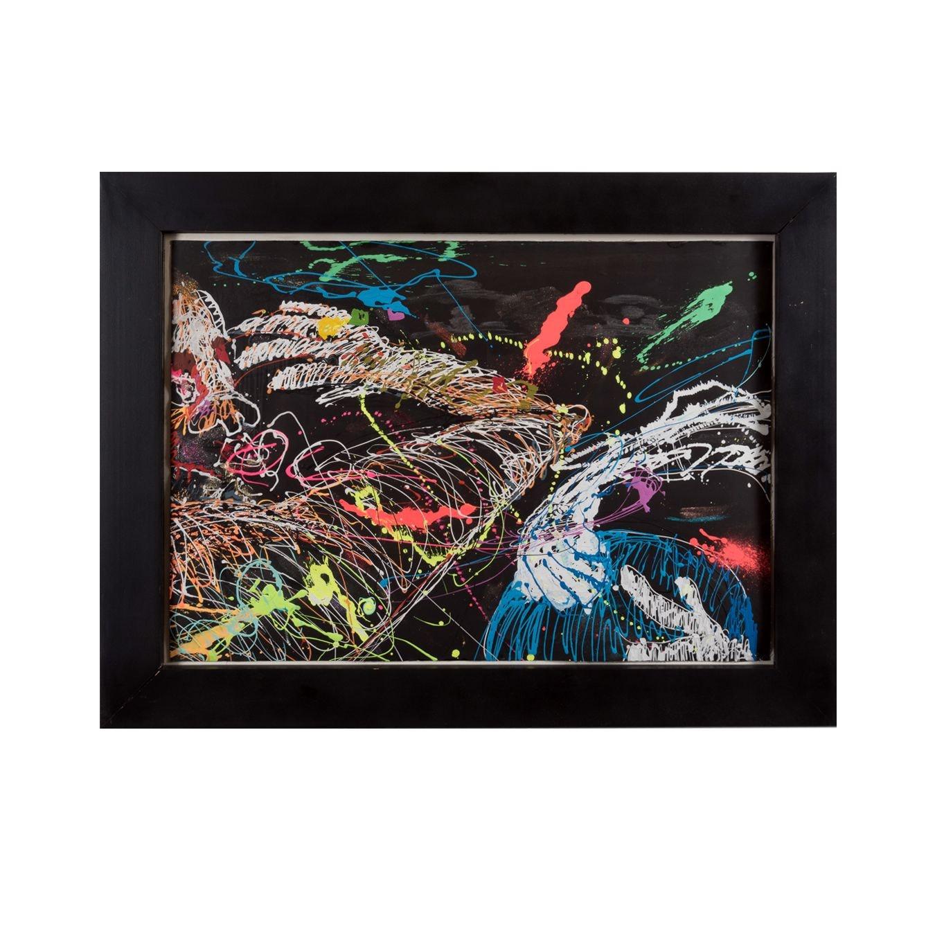 "Bill Schiffer Acrylic Painting ""The Slap"""