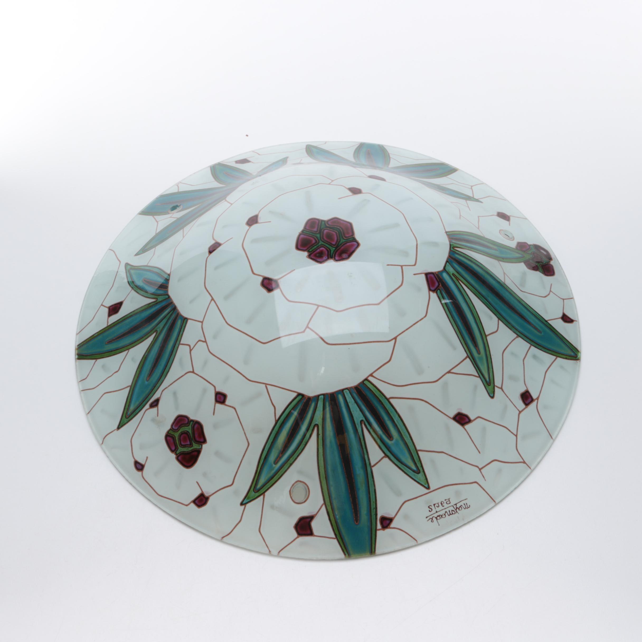 Art Deco Maxonade Art Glass Plafonnier Shade