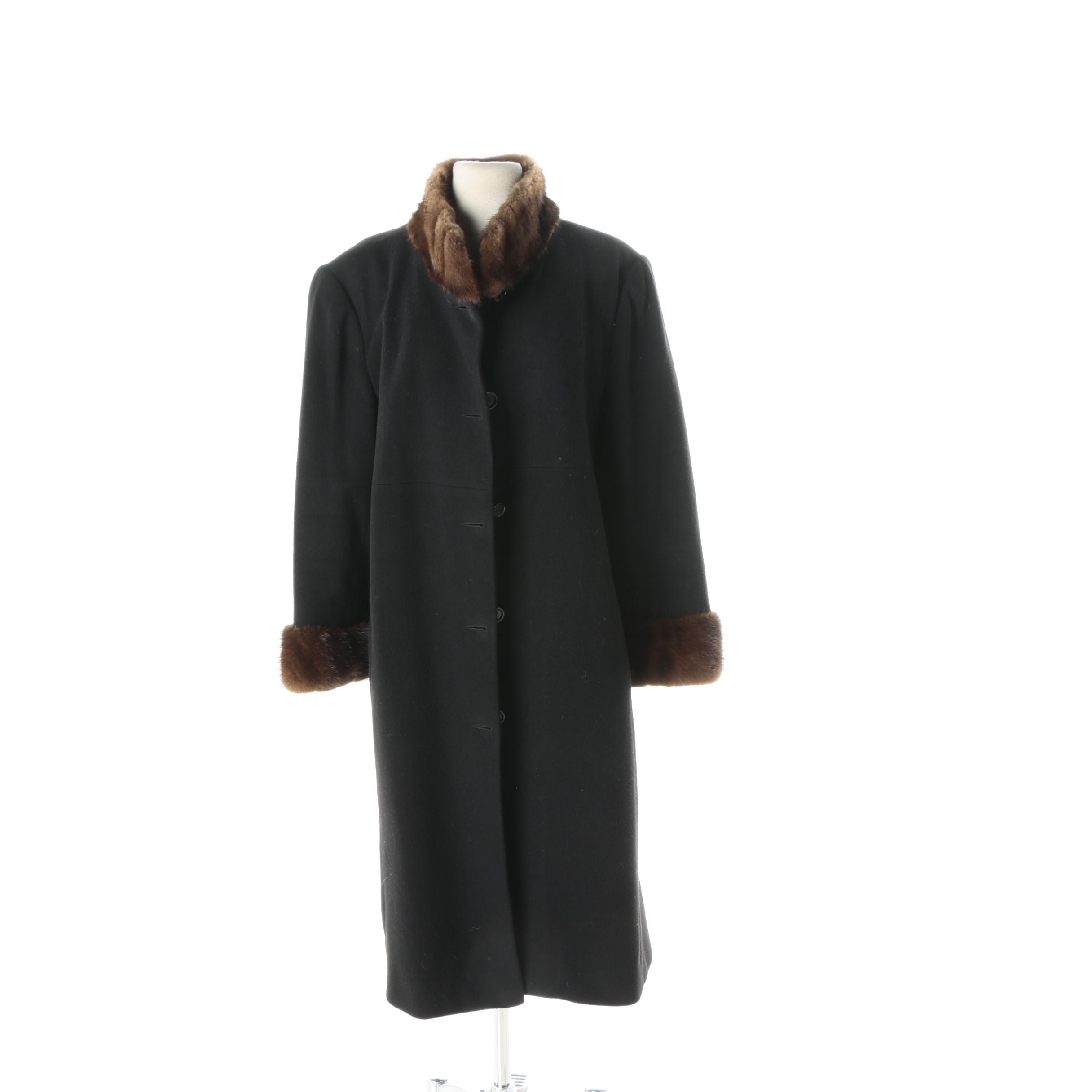 Vintage Marvin Richards Coat with Mink Fur