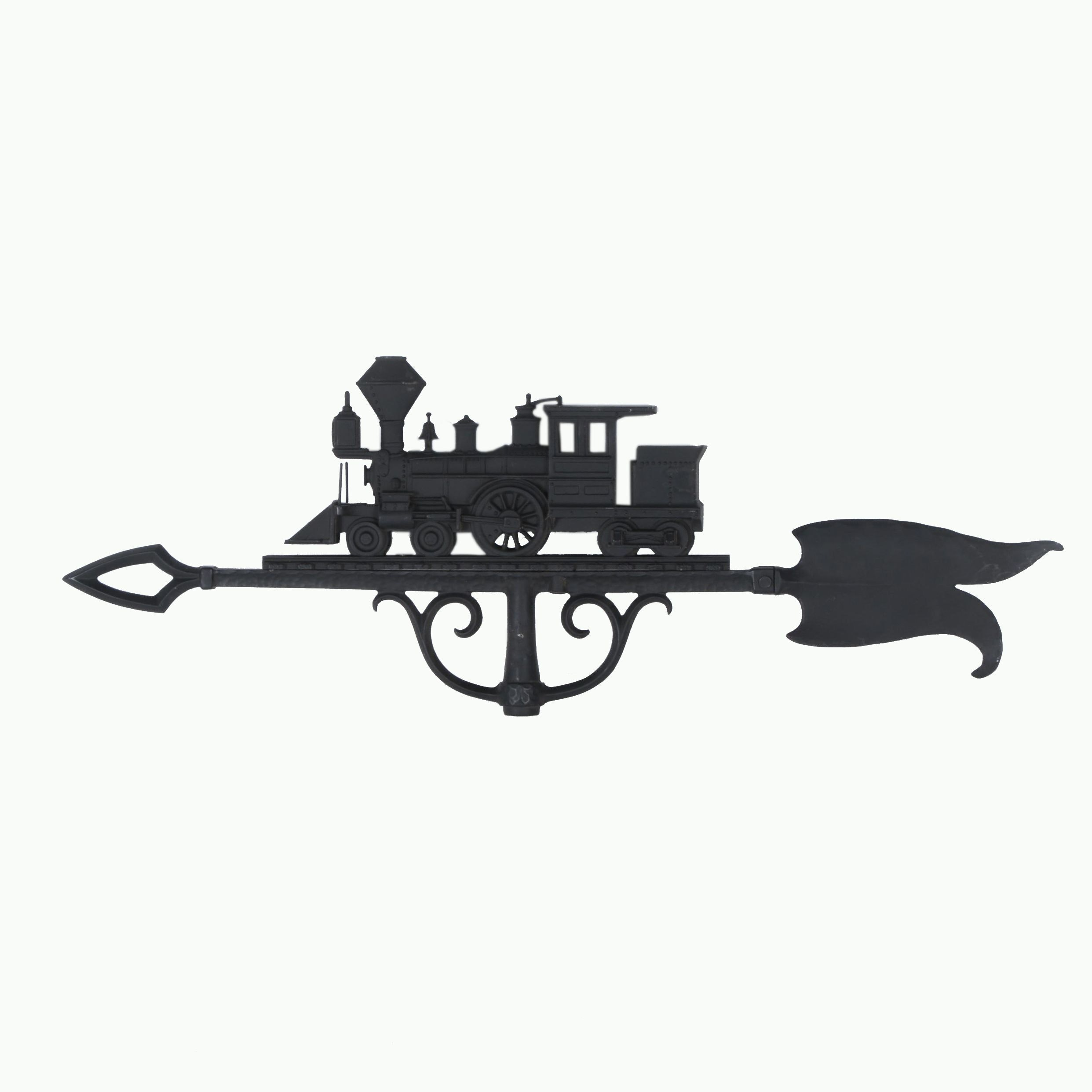 Cast Iron Train Engine Weathervane