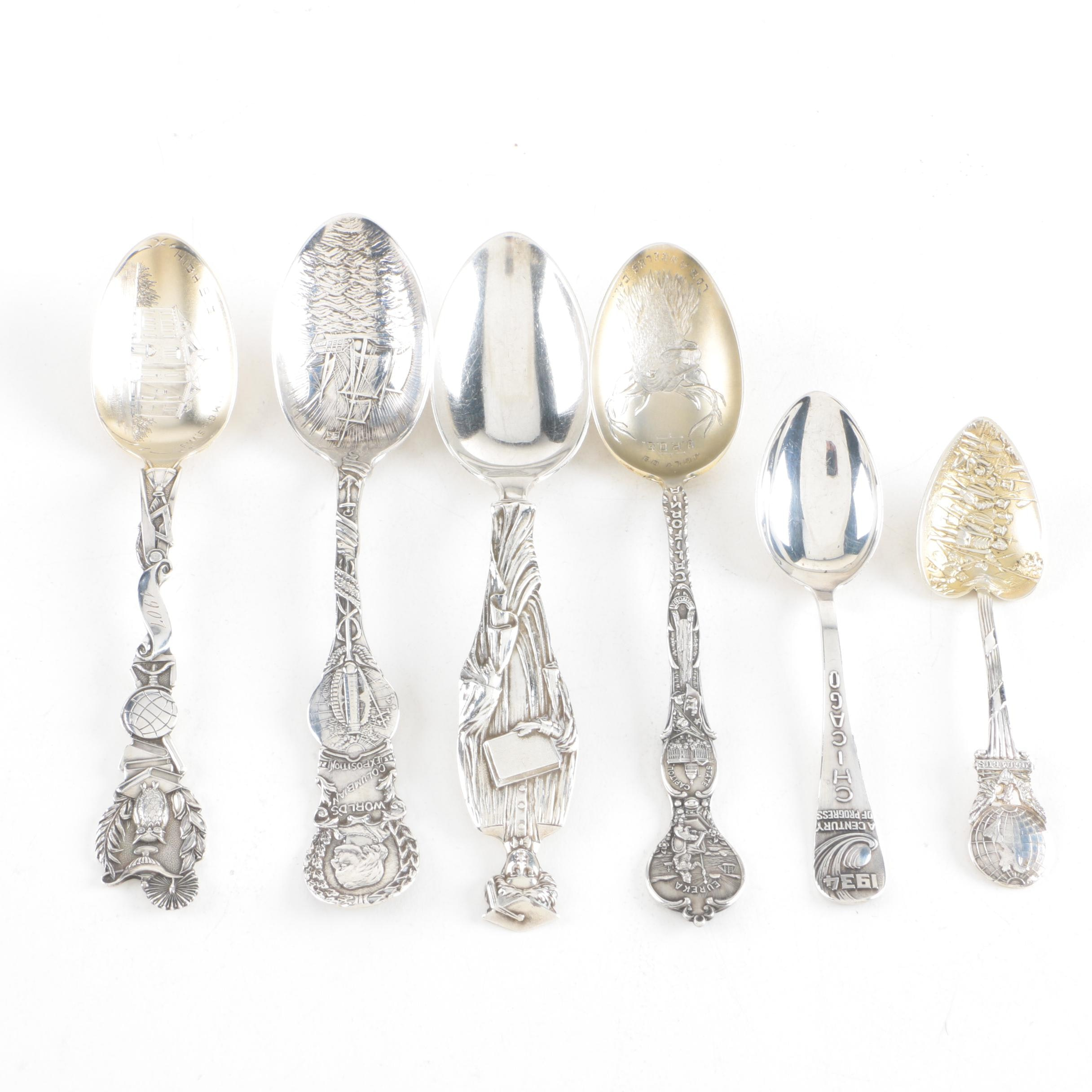 Lunt, Joseph Mayer & Bros. and Watson Company Sterling Souvenir Spoons