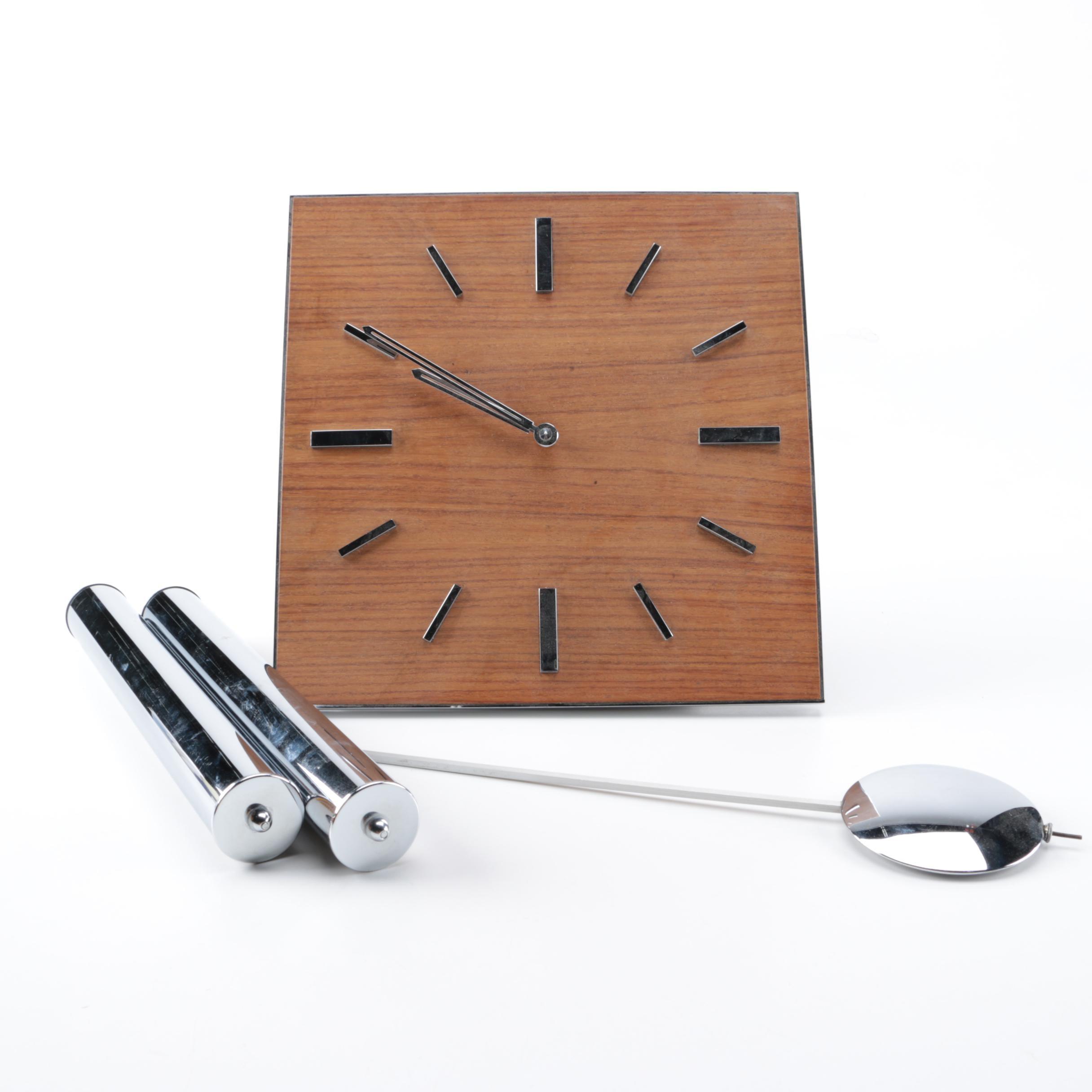 Junghans Bauhaus Modernisa Pendulum Wall Clock