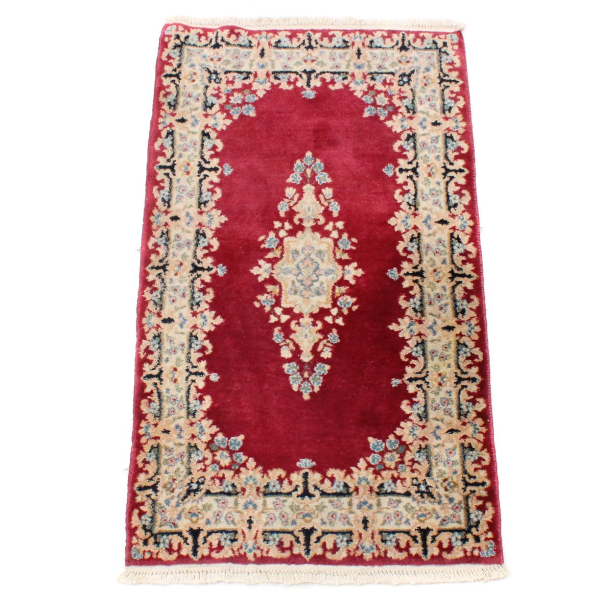 3' x 5' Hand-Knotted Persian Kirman Rug