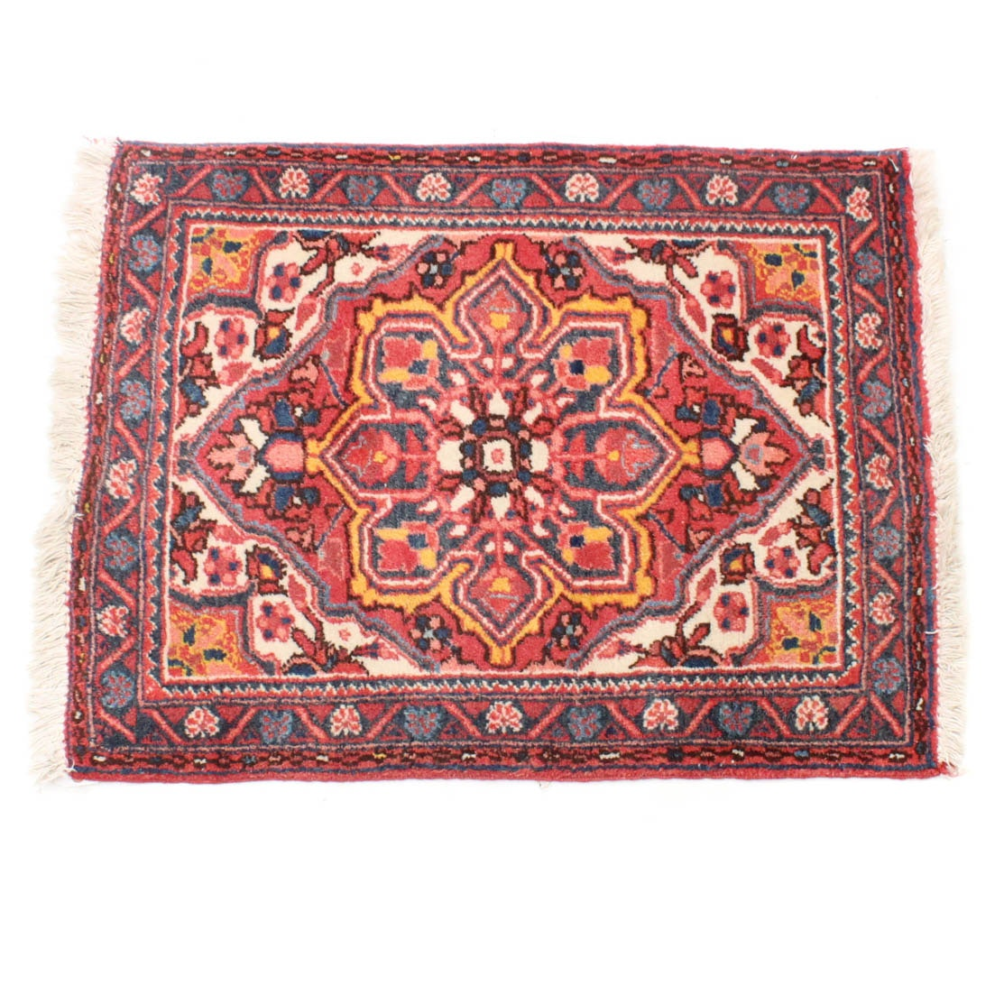 3' x 4' Semi-Antique Hand-Knotted Persian Heriz Rug