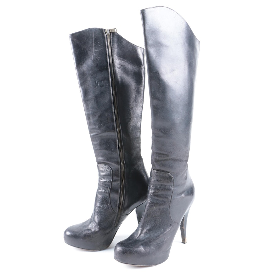 Billy Reid Leather Knee-High Boots Sale Outlet Locations 100% Guaranteed Online m4cUH9Sy0