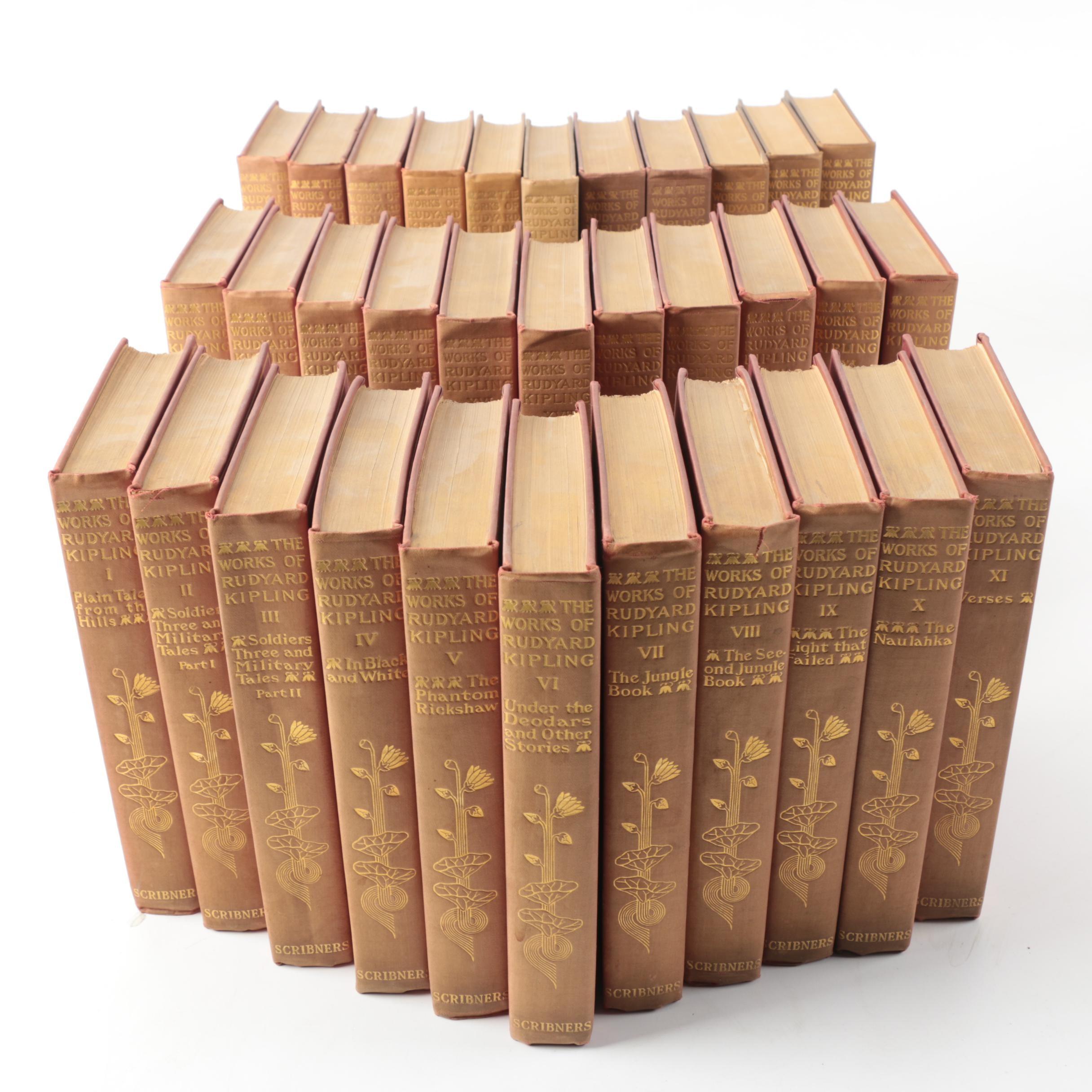 """1910s–1930s """"The Works of Rudyard Kipling"""" Thirty-Three Volumes"""