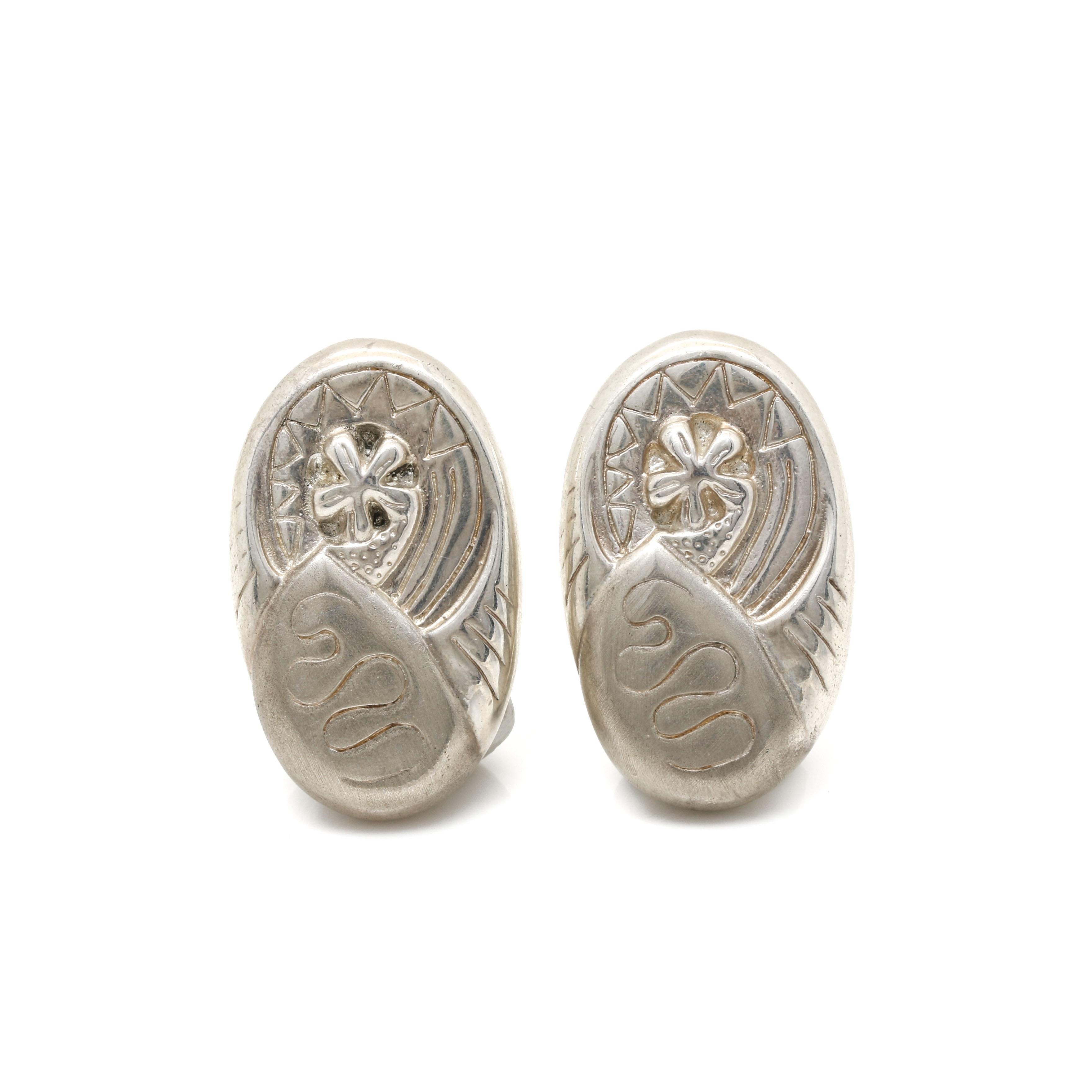 Bill Schiffer Sterling Silver Earrings